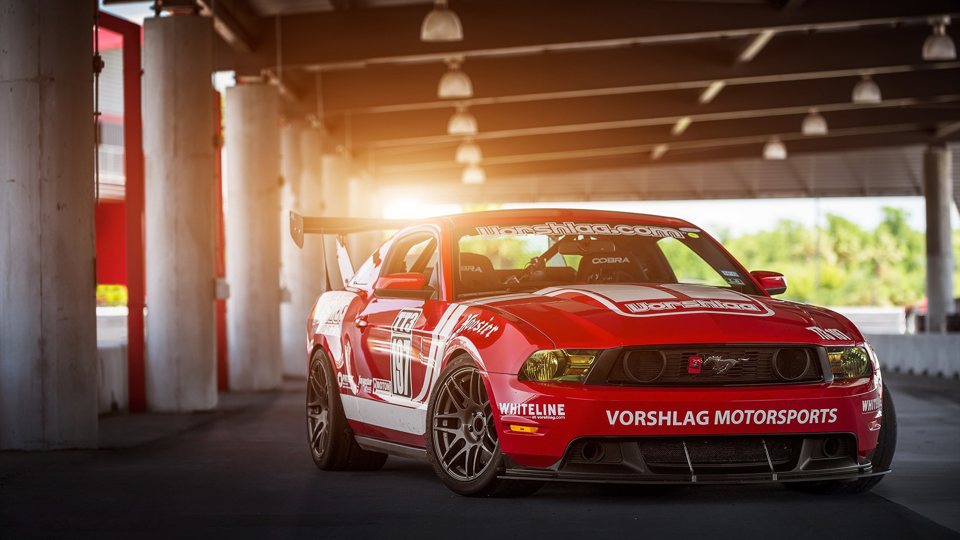 Wallpaper Red Ford Mustang Muscle Car 1920x1080 Full Hd 2k