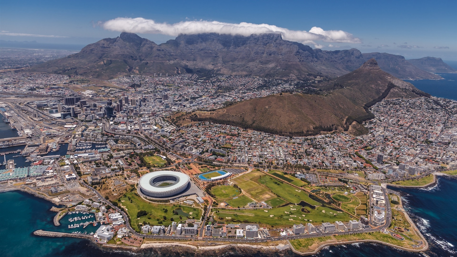 Cape Town City Wallpaper: 壁紙 南アフリカ、ケープタウン 2560x1600 HD 無料のデスクトップの背景, 画像