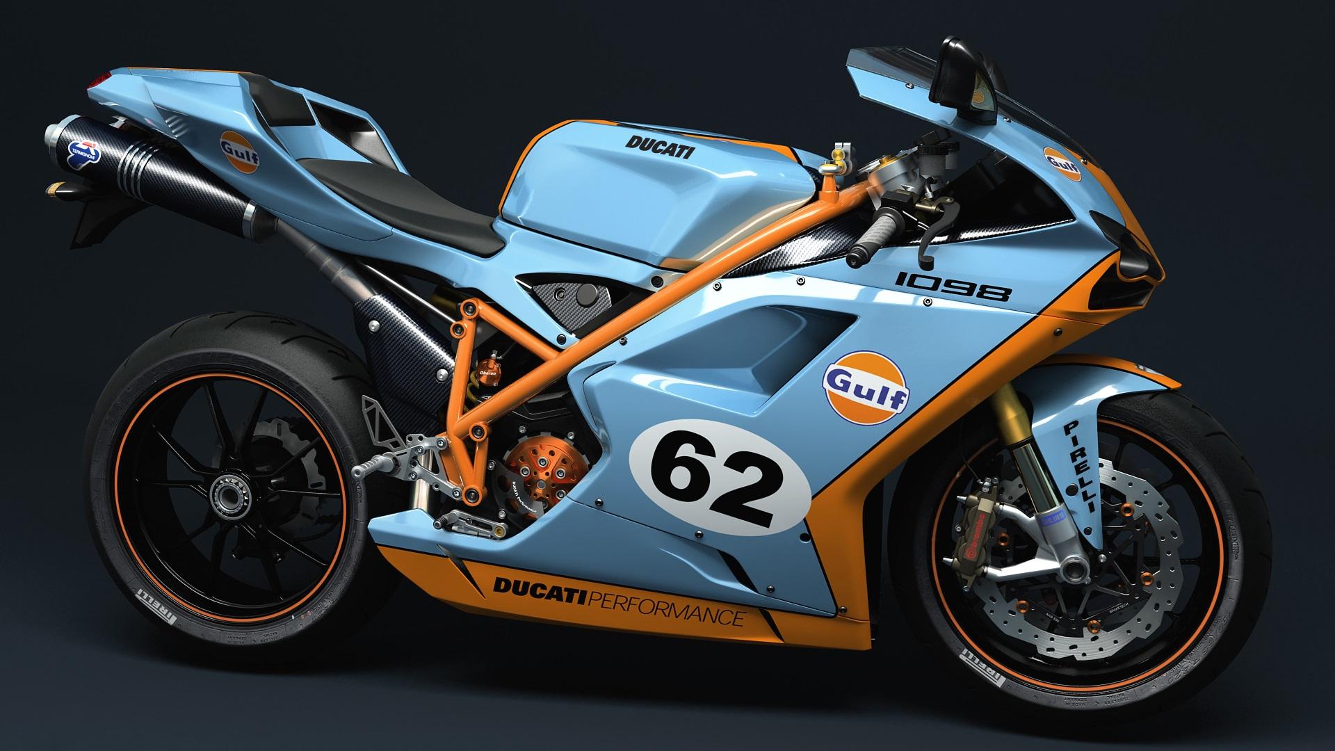 Fondos De Pantalla Ducati 1098 Golfo Motocicleta 1920x1080