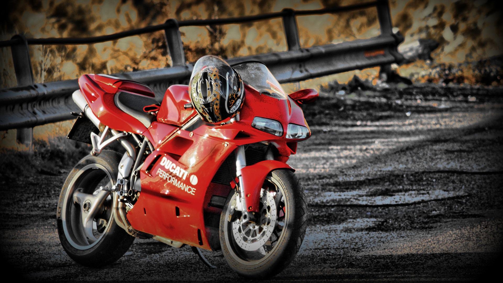 Fondos De Pantalla Ducati 748 Motocicleta De Color Rojo