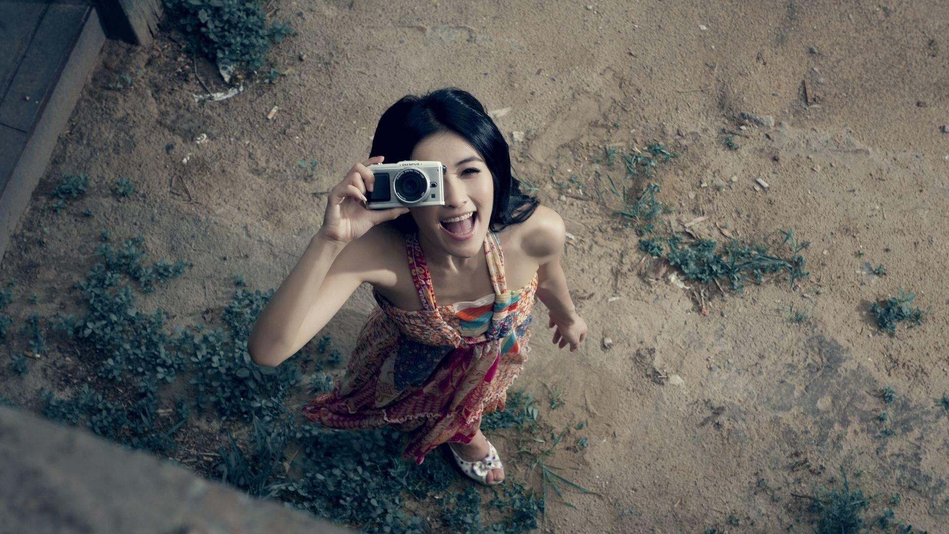 16 Luxury Pubg Wallpaper Iphone 6: 壁纸 快乐女孩使用相机 1920x1080 Full HD 2K 高清壁纸, 图片, 照片