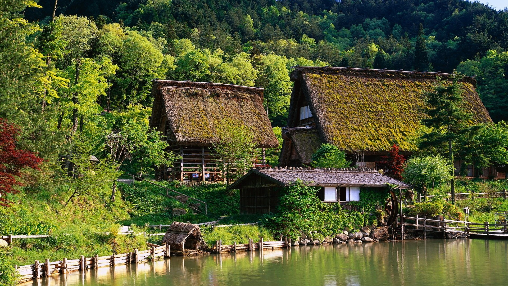 Fonds d 39 cran t l charger 1920x1080 japon maisons ferme for House image hd