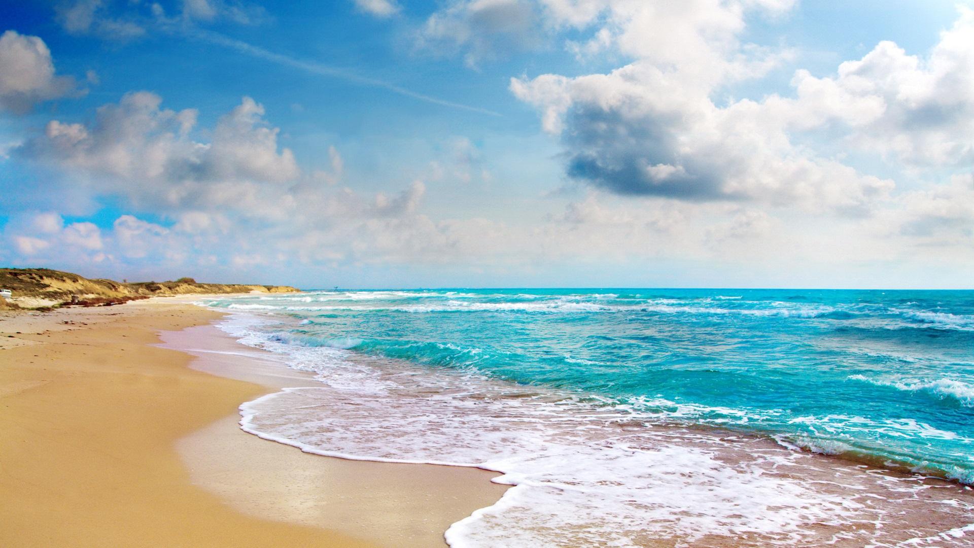 обои для рабочего стола берег пляжи № 598780 без смс