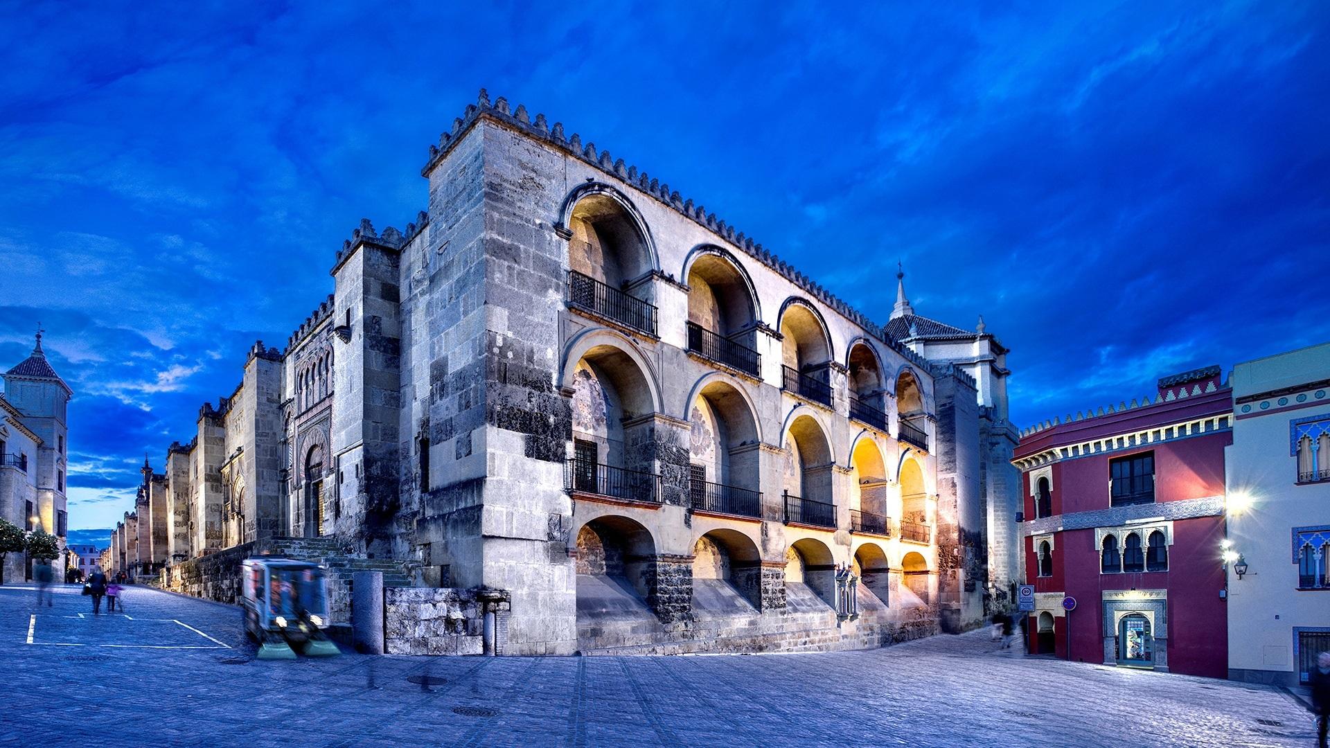 Cordoba, Andalucia, Spain, city, street, lights, night