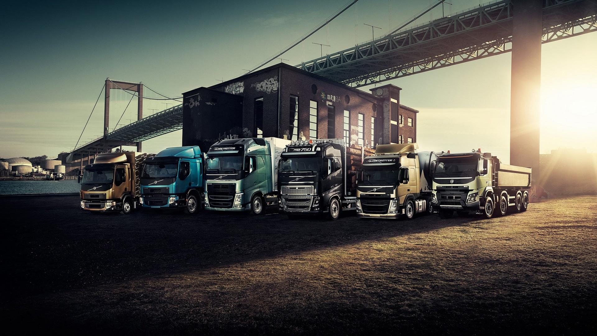 Download Hintergrundbilder 1920x1080 Full Hd Volvo Lkw