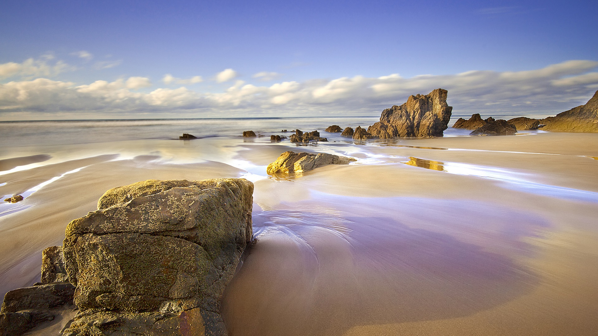Fondo Espana Hd: Wallpaper Spain, Asturias, Beach, Sea, Rocks 1920x1200 HD