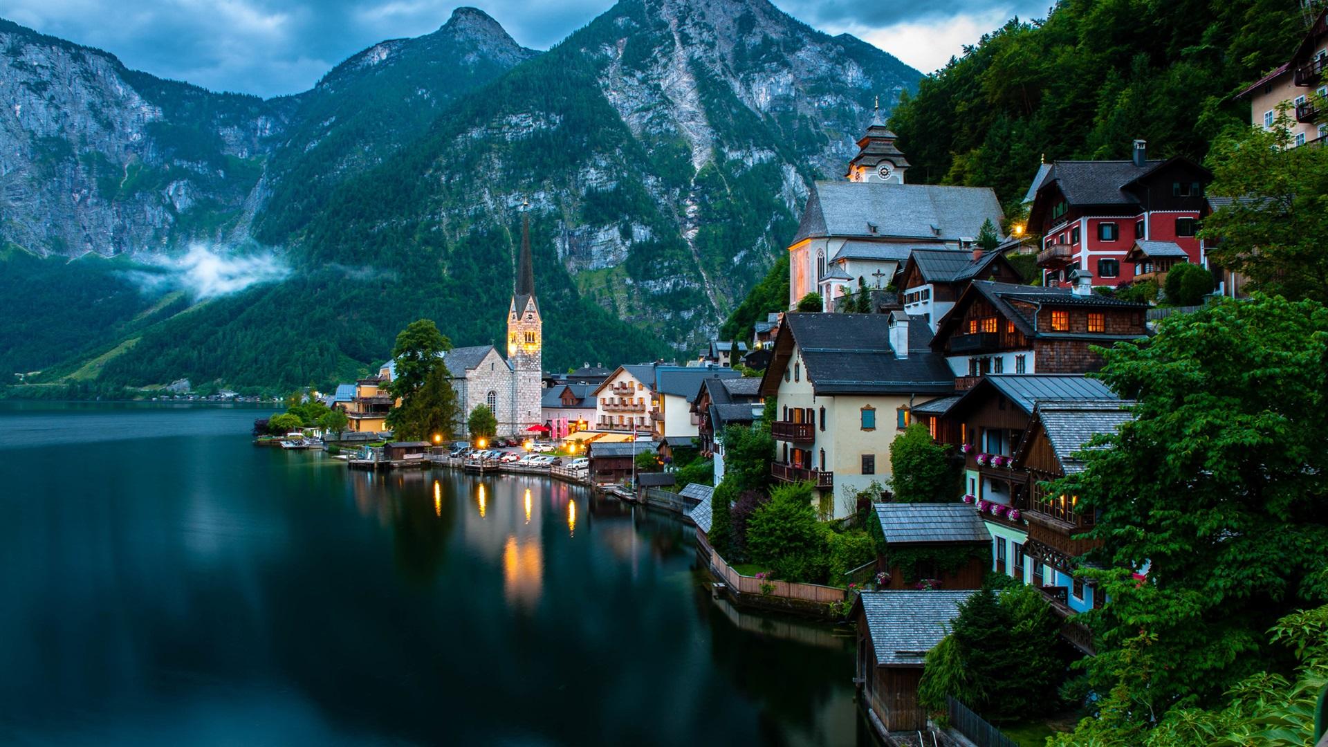 австрия горы обои на рабочий стол № 546390 бесплатно