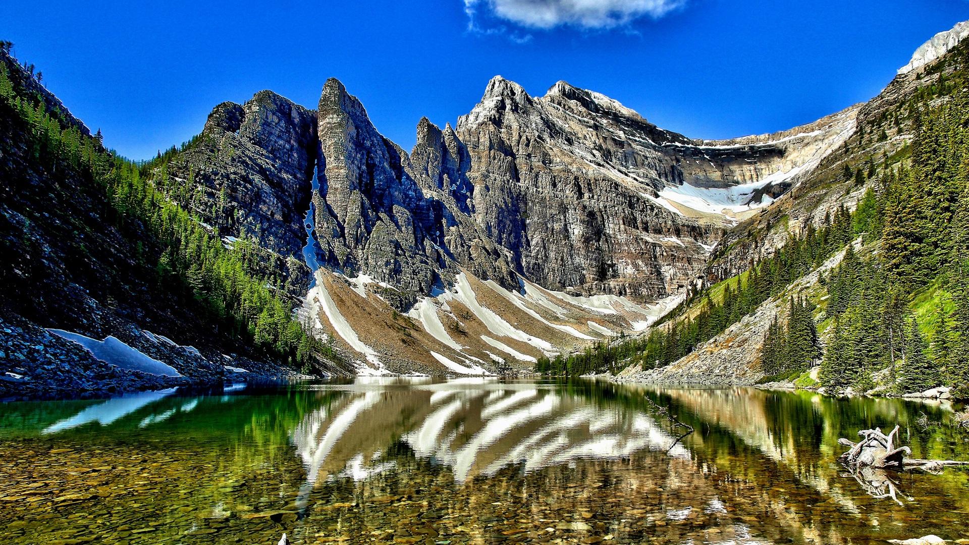Hintergrundbilder Beschreibung: See Agnes, Banff Nationalpark, Alberta ...