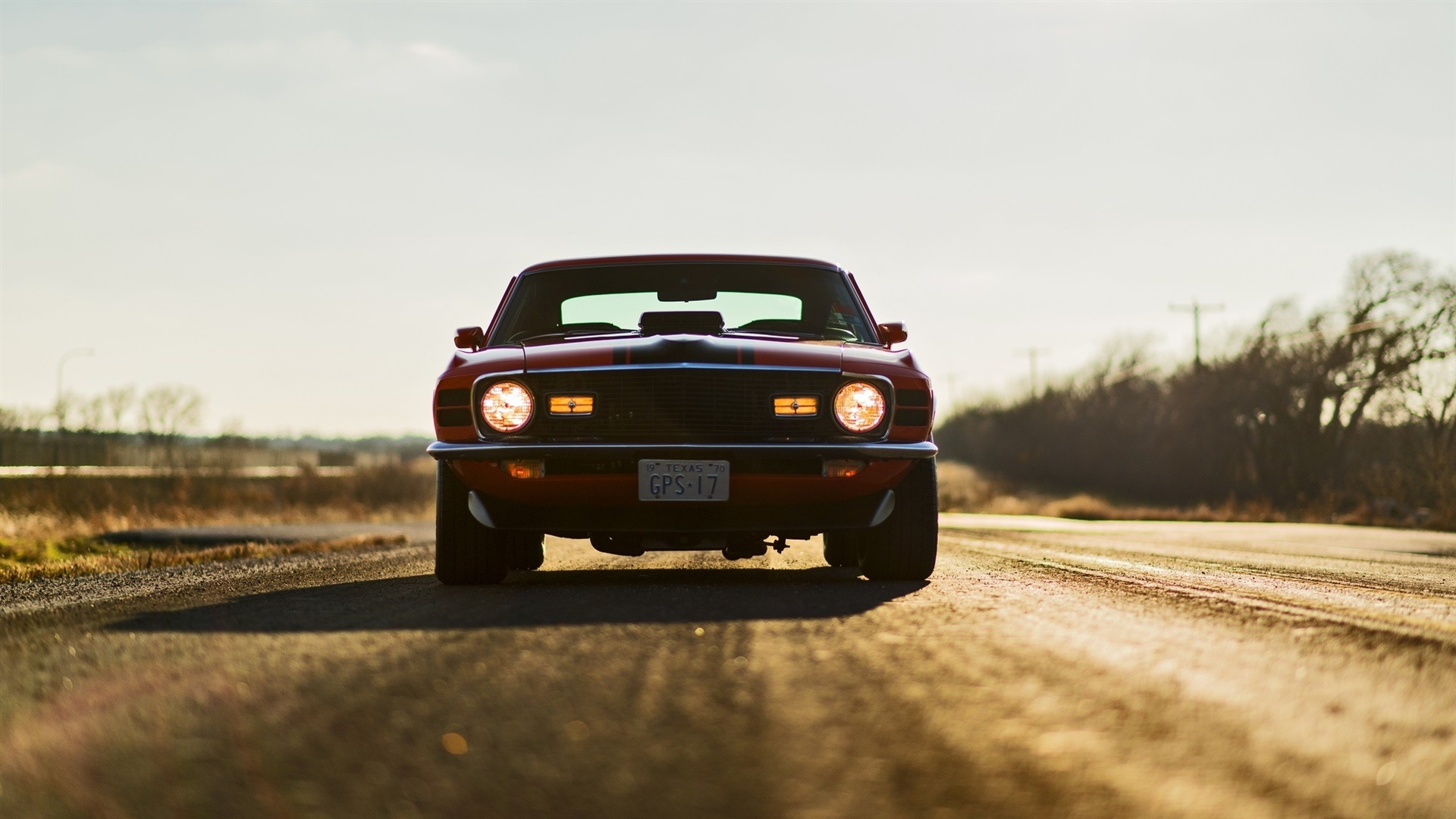 Wallpaper Ford Mustang Mach 1 Car Front View 1920x1080 Full Hd 2k