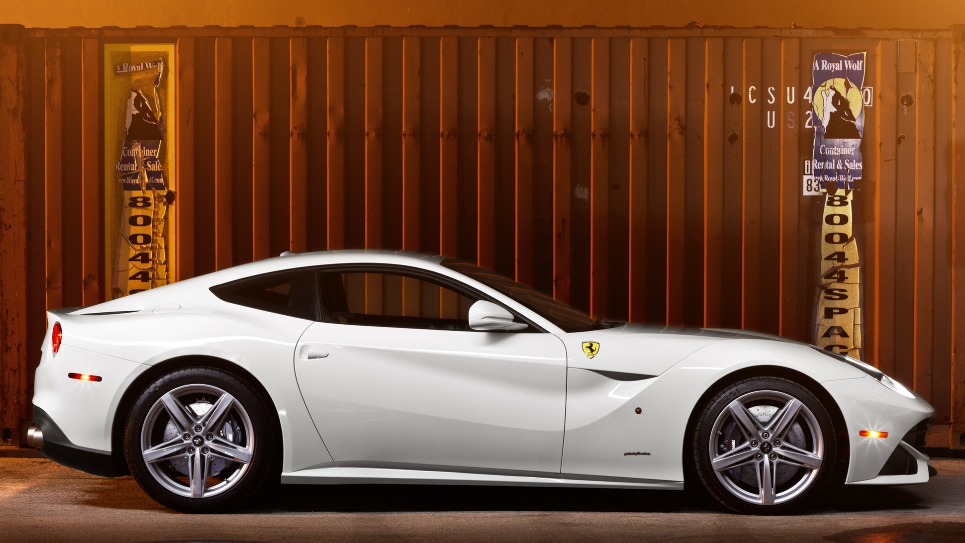 Wallpaper ferrari f12 white supercar side view 1920x1200 hd picture image - Car side view wallpaper ...