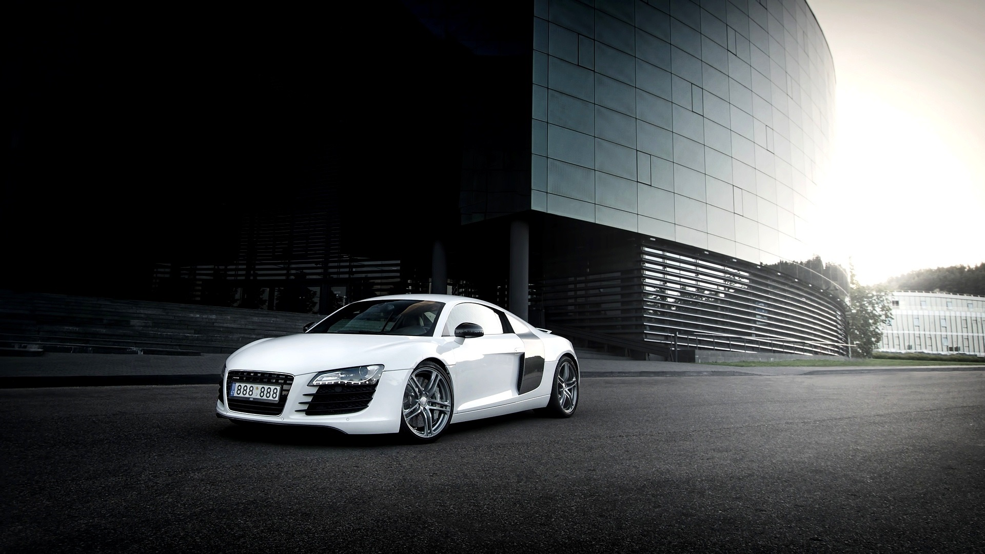 fonds d 39 cran audi r8 voiture blanche la ville l 39 blouissement 1920x1080 full hd 2k image. Black Bedroom Furniture Sets. Home Design Ideas