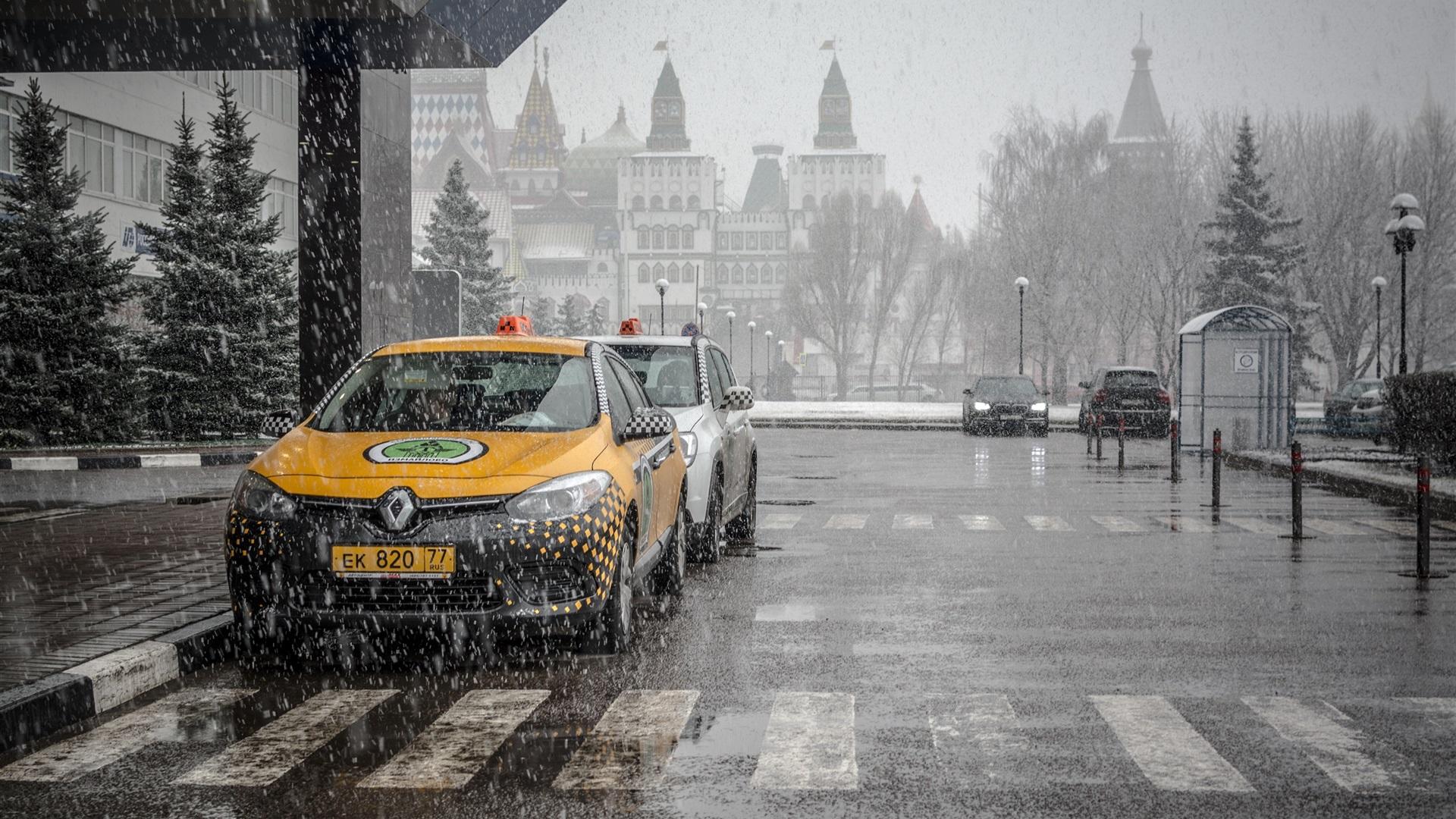 Обои такси, улица. Города foto 14