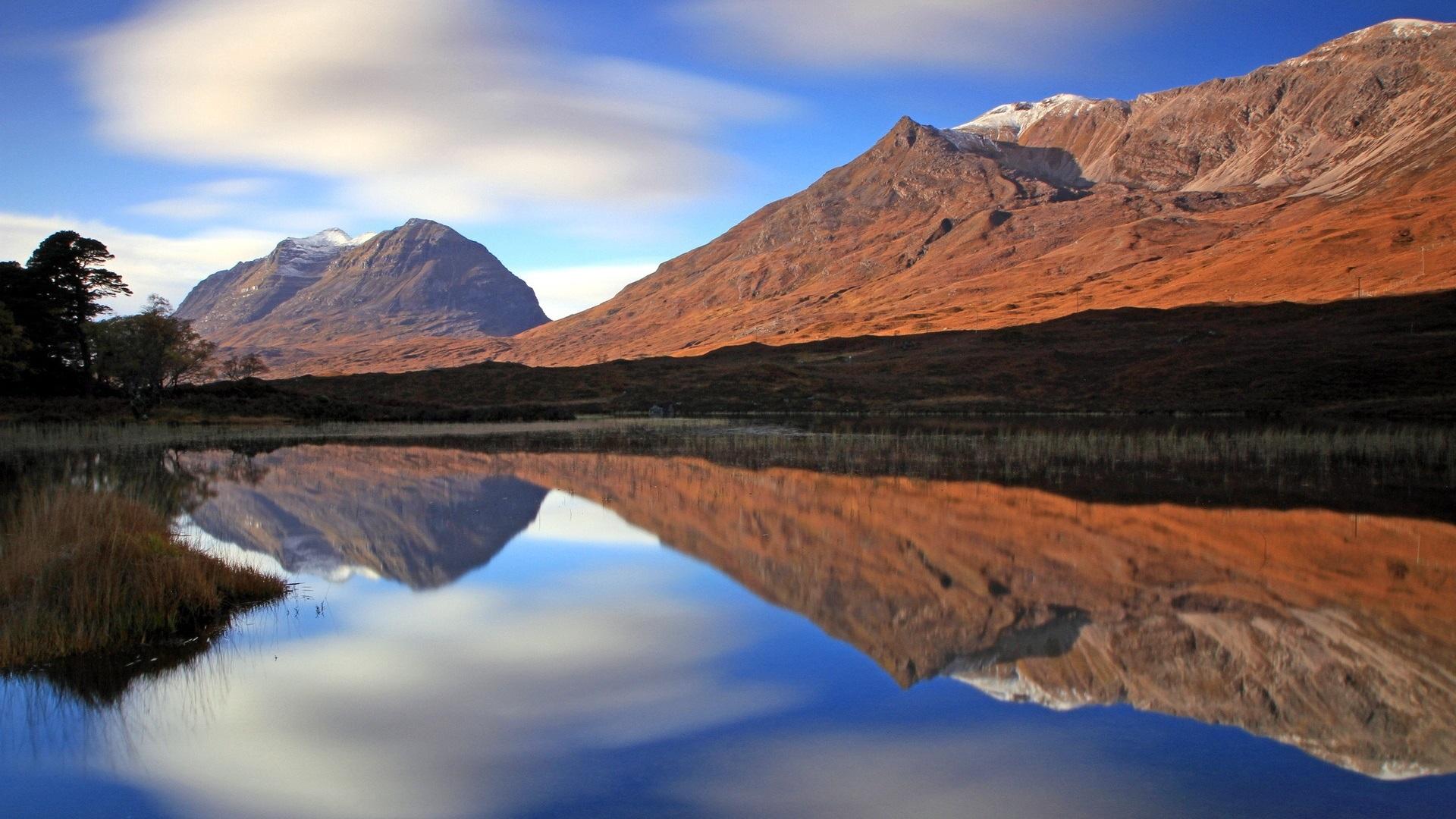 mountains sky lake reflection - photo #29