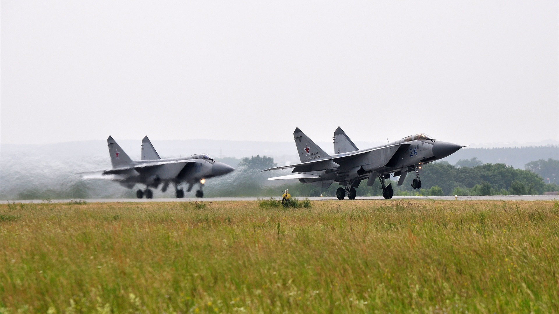 Wallpaper The Mig 31 Fighter Taking Off 1920x1080 Full Hd 2k