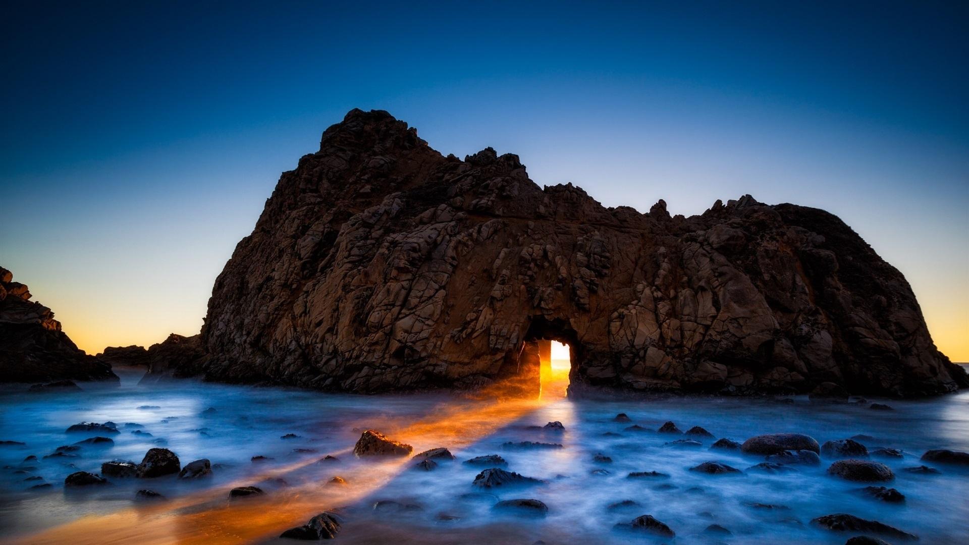 Pacific Ocean Big Sur California Beach 4k Hd Desktop: 壁紙 ファイファービーチ、ビッグ・サー、カリフォルニア州、アメリカ、岩、アーチ、海 1920x1200 HD 無料の