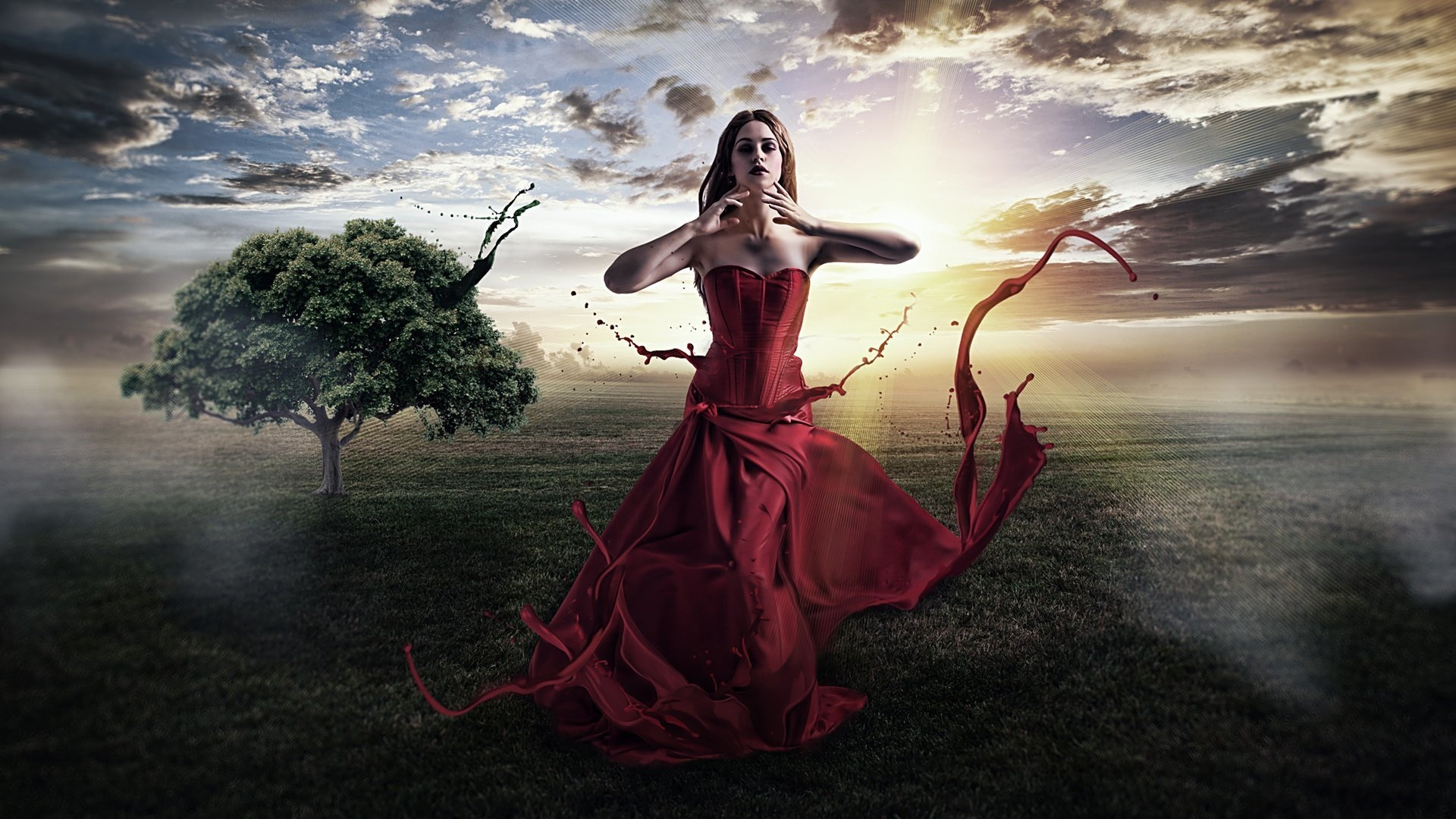 фото фантазии на тему красной пленки