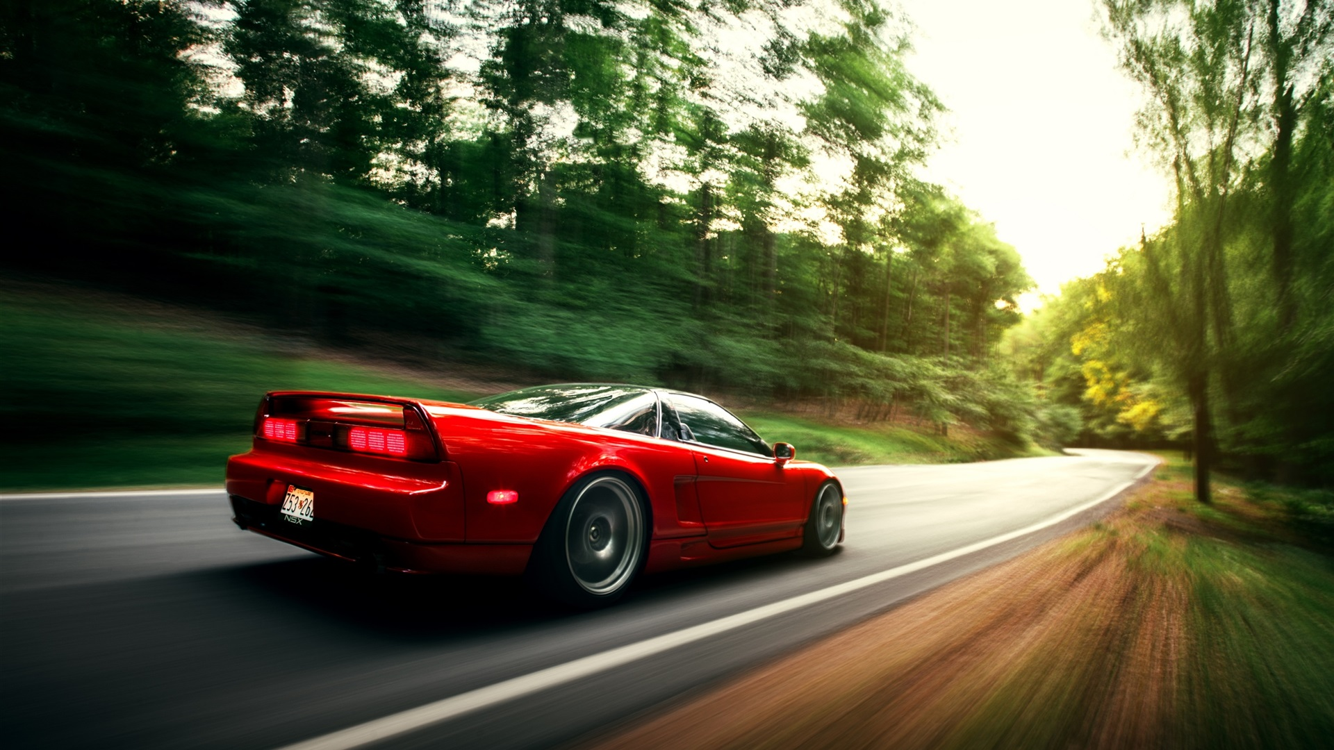 Wallpaper Honda NSX red car in motion 2560x1600 HD Picture, Image