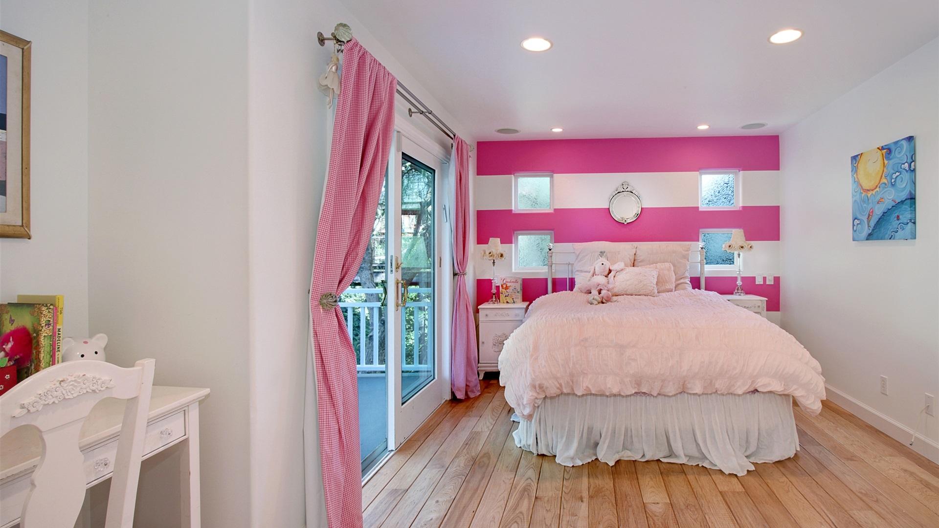 Download wallpaper 1920x1080 interior design bedroom bed for Interior design bedroom wallpaper