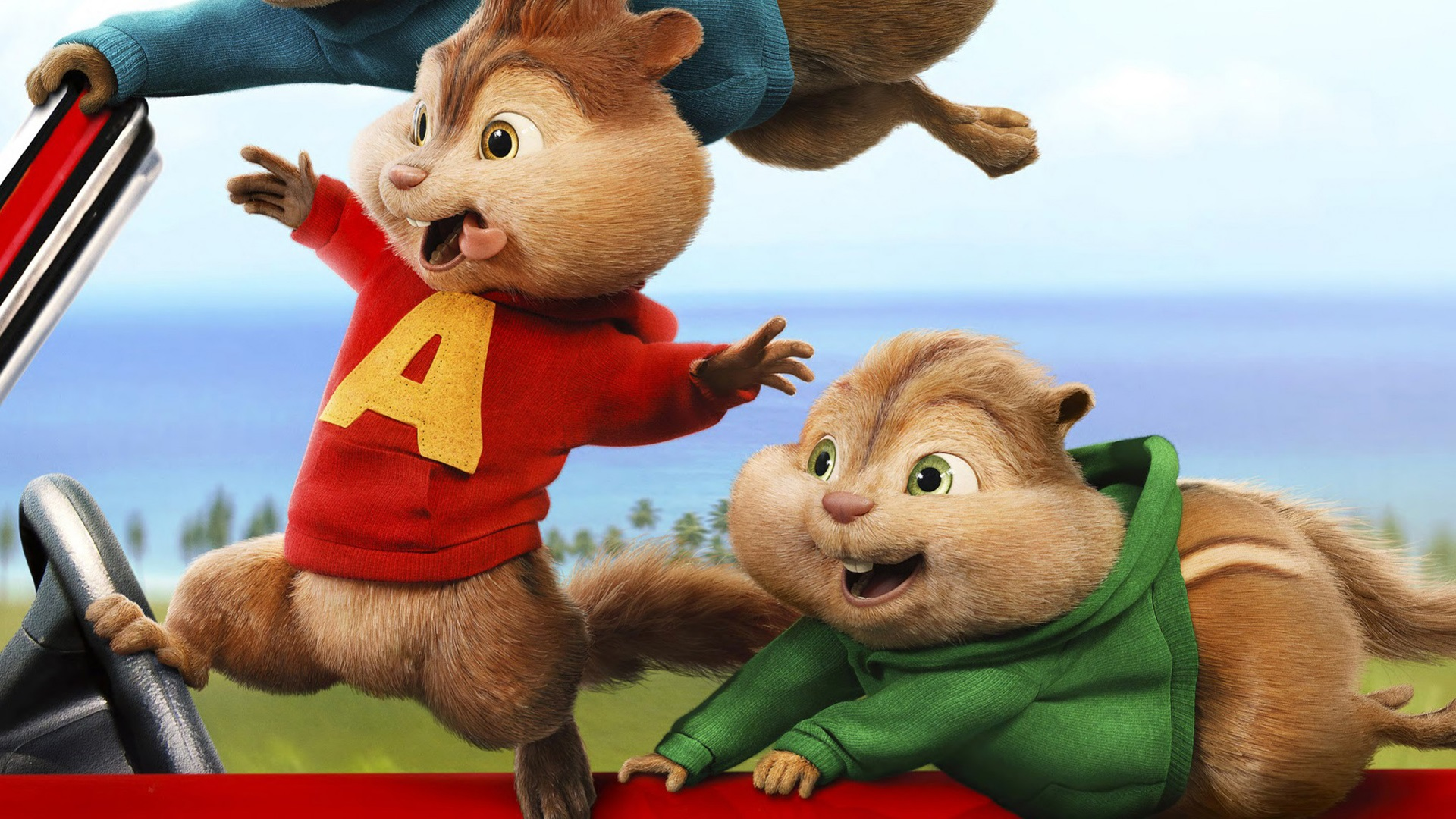 Wallpaper Alvin And The Chipmunks The Road Chip 2015 Movie