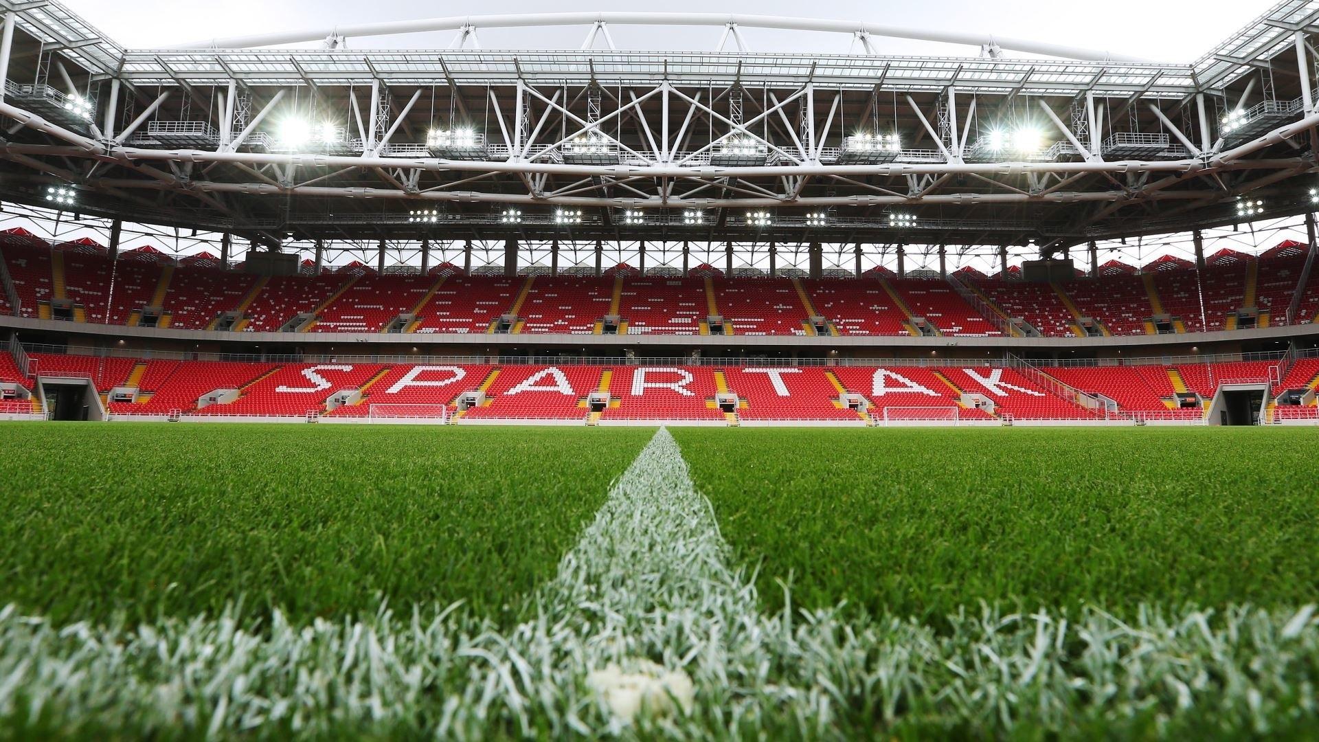 Fondo De Fútbol Hd: FC Spartak Stadium, Campo De Fútbol, Césped, Las Luces