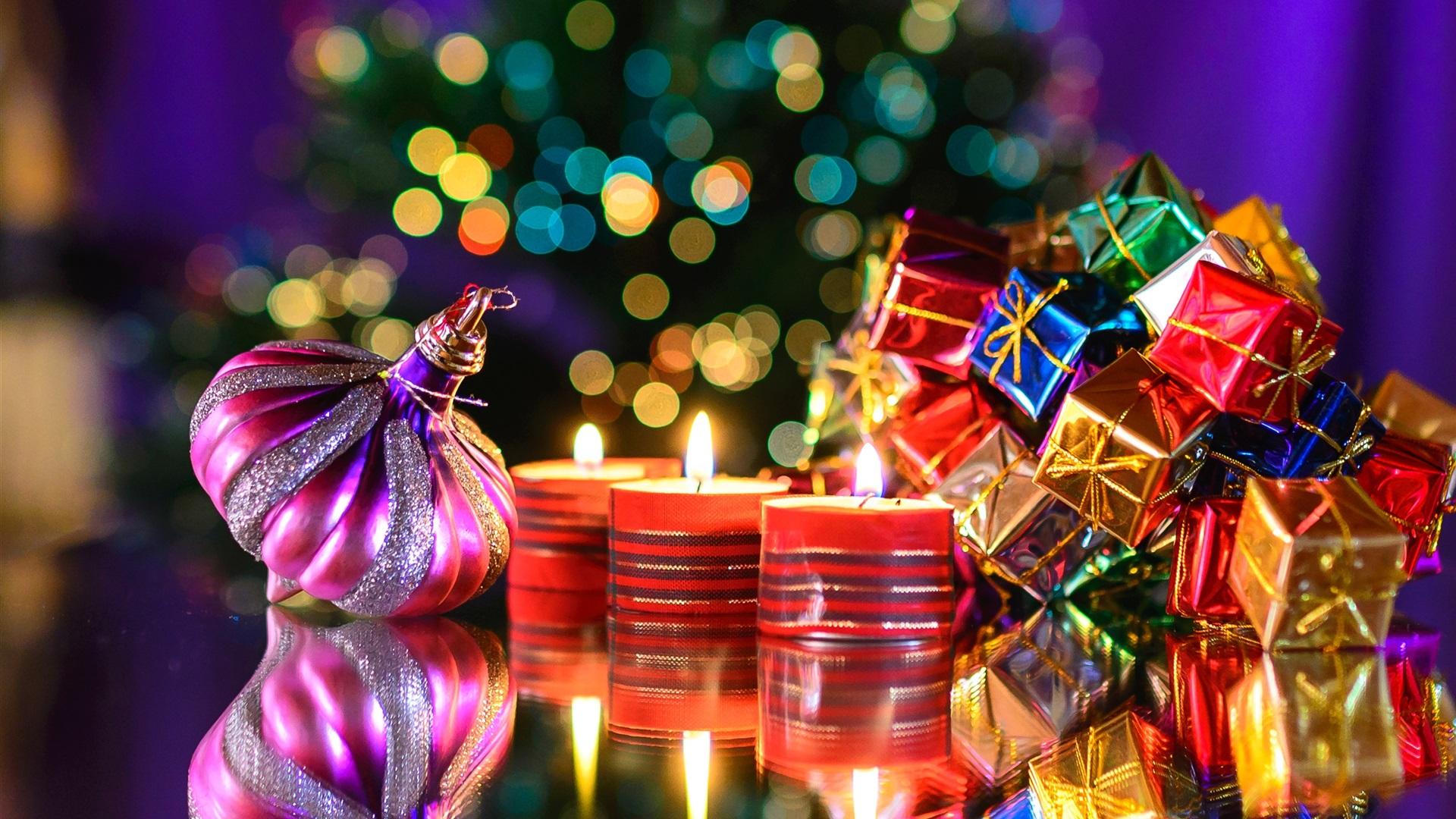 Обои на рабочий стол новогодние подарки