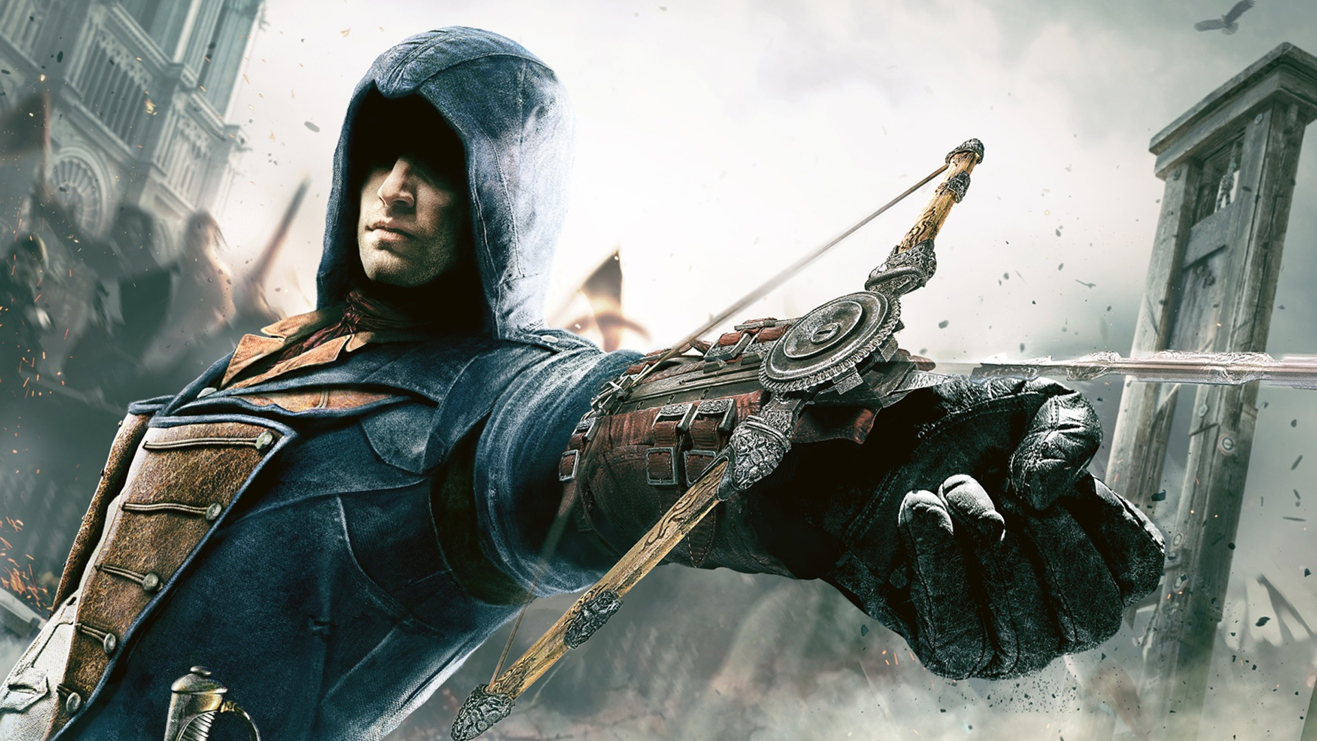 Wallpaper assassin 39 s creed unity crossbow hand - Assassin s creed unity wallpaper ...