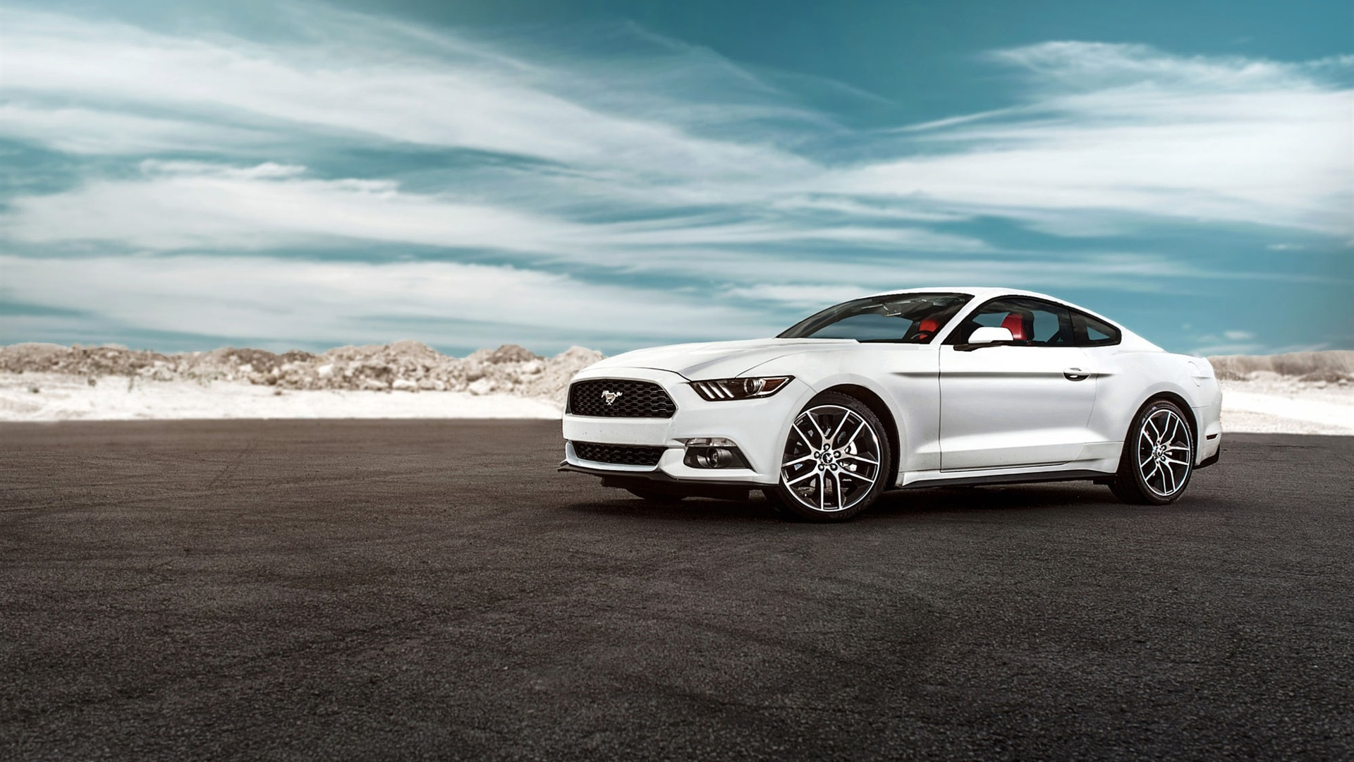 2015 Ford Mustang Gt White Car Wallpaper 1920x1080 Full Hd Resolution Wallpaper Download