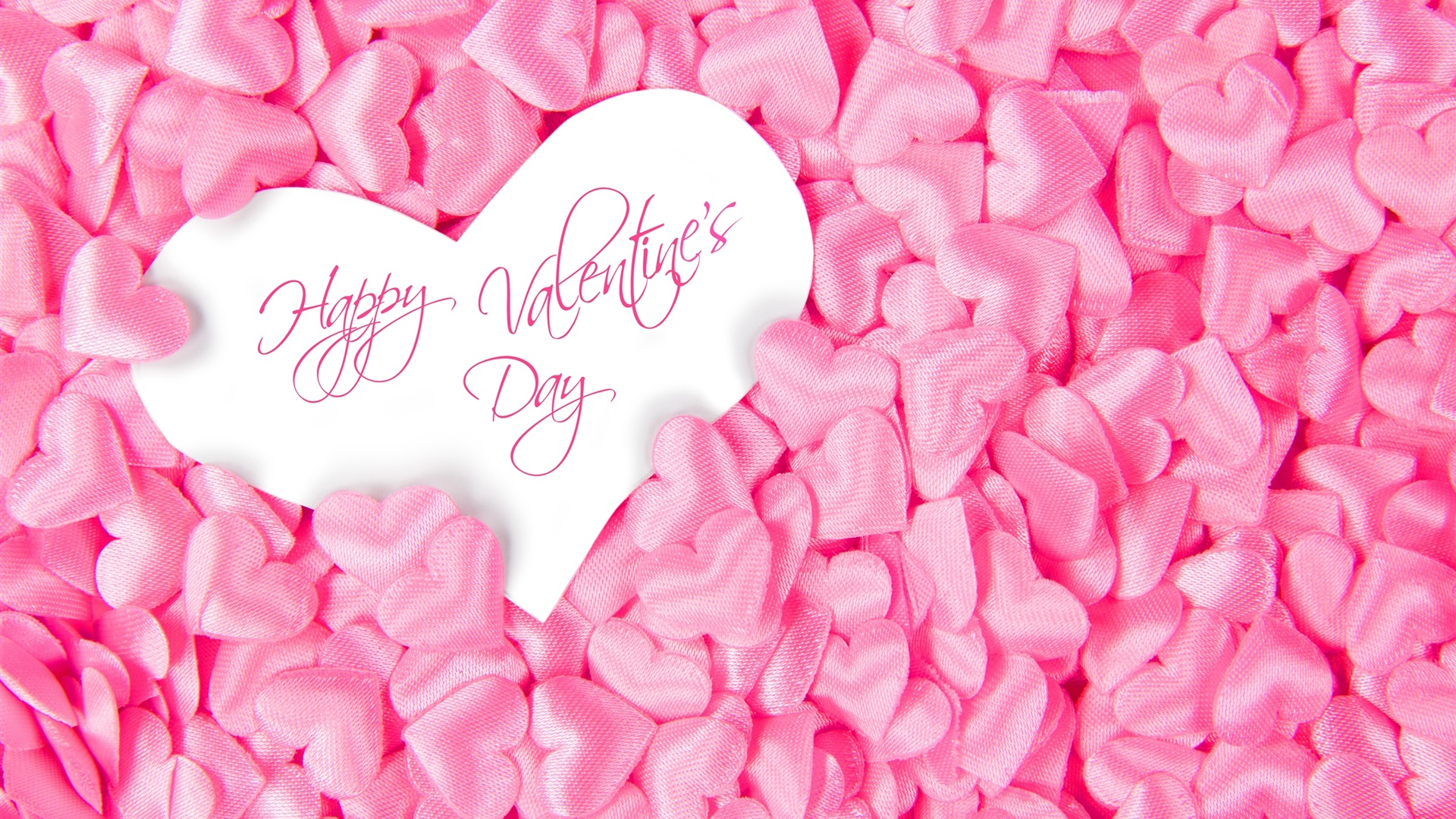 wallpaper happy valentine's day, many pink love hearts 2560x1600 hd