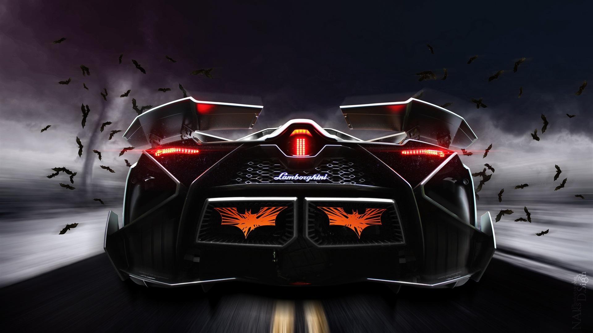 Wallpaper Lamborghini Egoista Concept Supercar Rear View 1920x1080