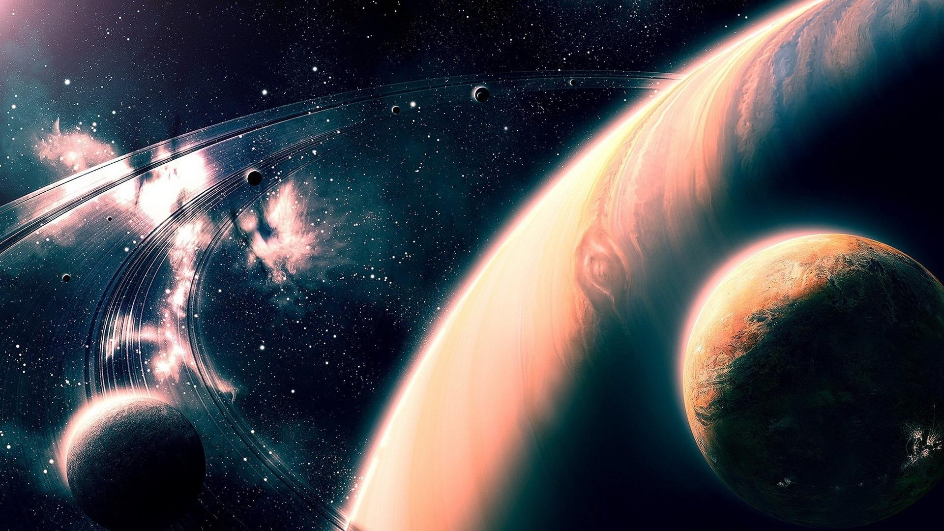 Hermoso Universo, Planetas, Estrellas Fondos De Pantalla
