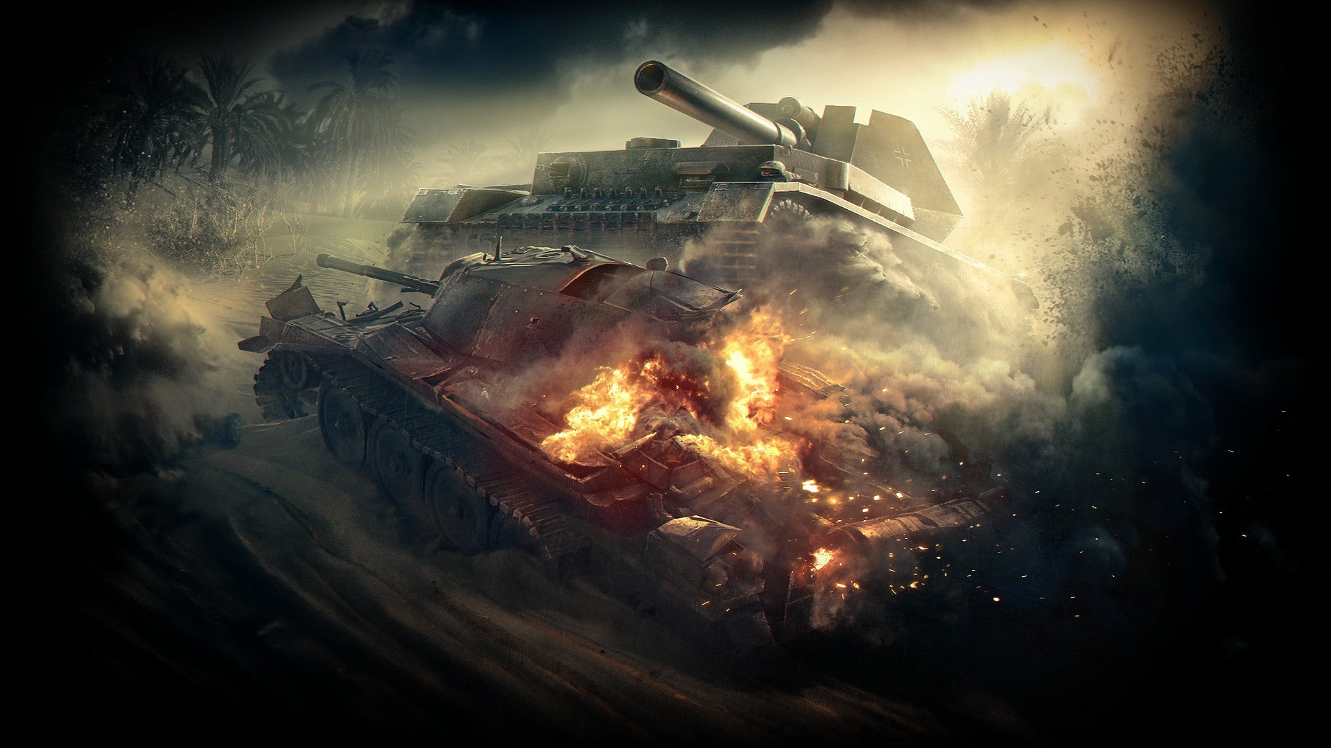 Download Wallpaper 1920x1080 World of Tanks, destroy Full ...
