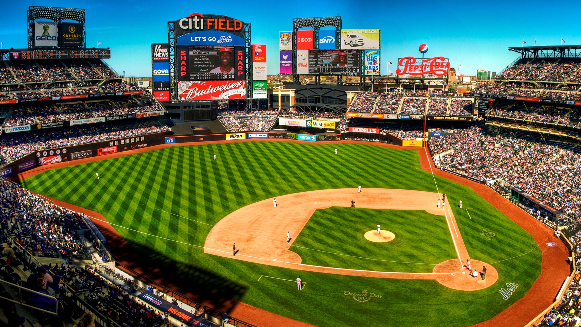 Hd wallpaper new - Terrain De Baseball New York 201 Tats Unis Fonds D 233 Cran