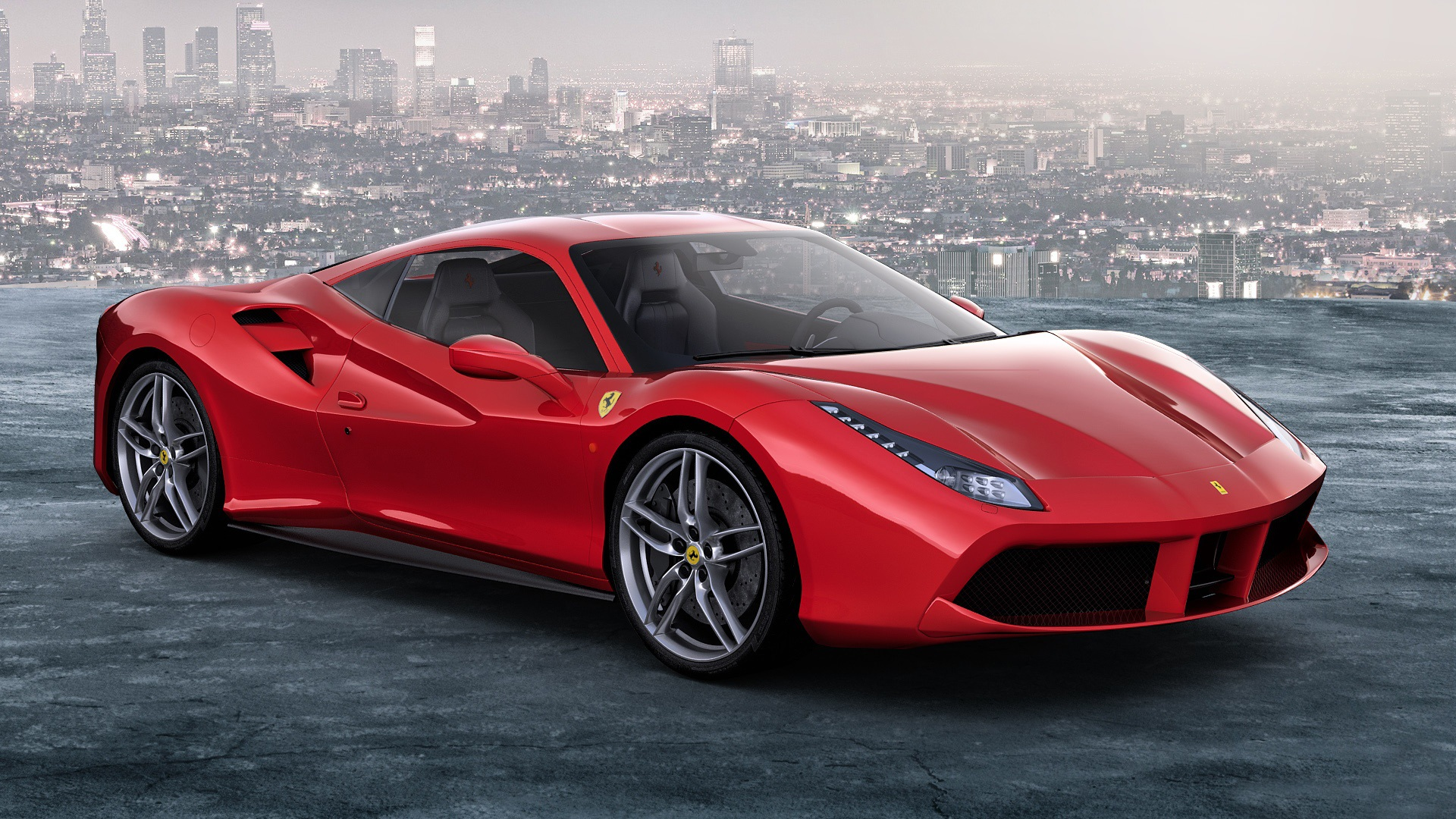 Wallpaper Ferrari 488 Gtb Red Supercar 1920x1080 Full Hd 2k Picture Image