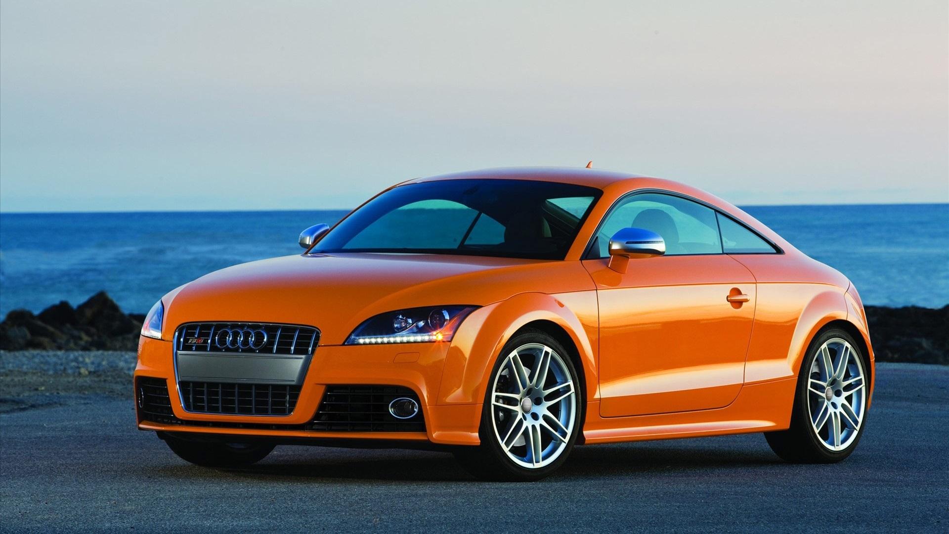 Wallpaper Audi Tt Coupe Orange Color 1920x1080 Full Hd 2k Picture Image
