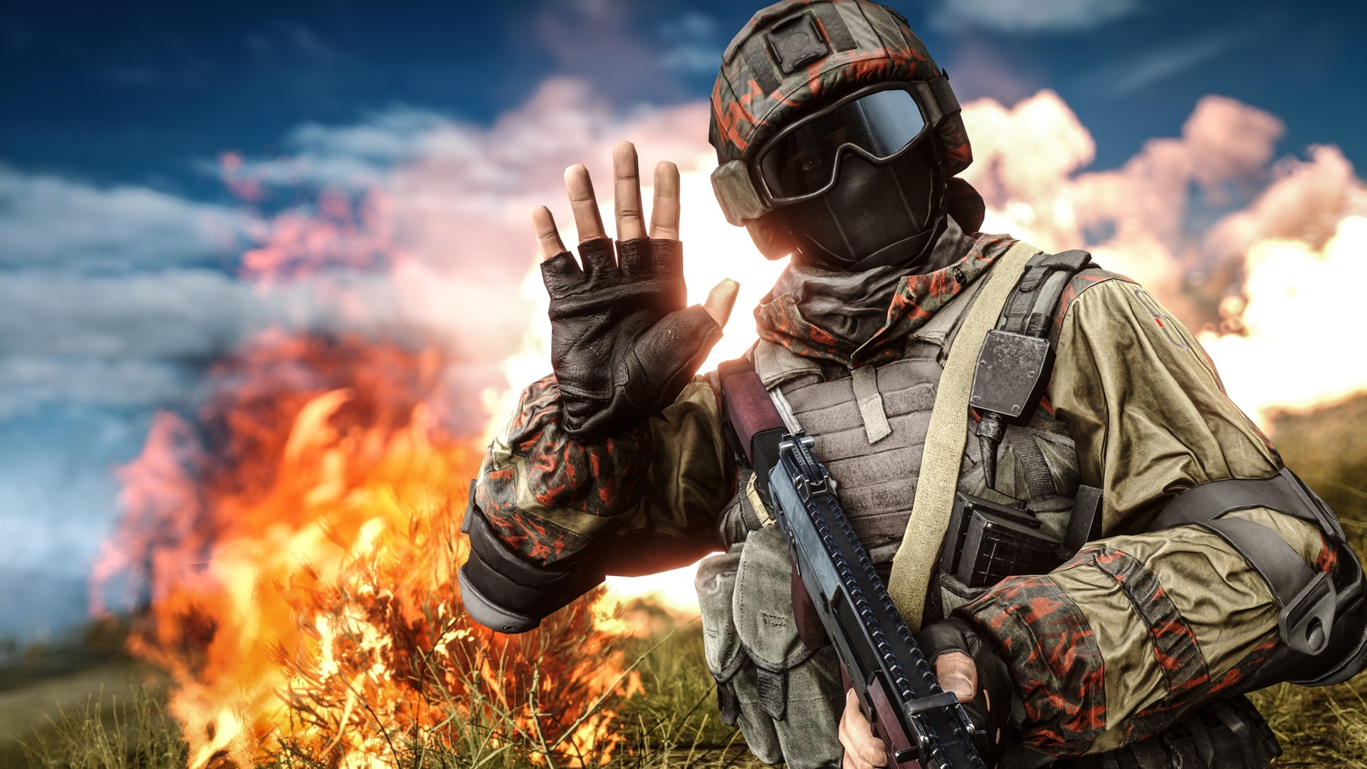 Battlefield4の燃える草