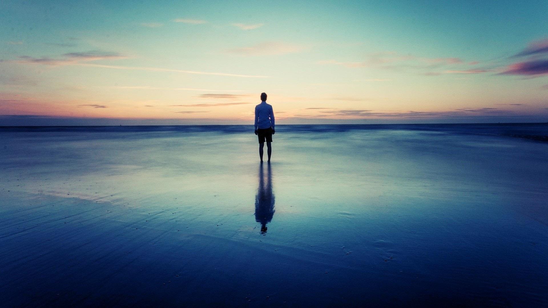 Fotos En La Playa Hombre: Fondos De Pantalla Costa, Playa, Mar, Atardecer, El Hombre