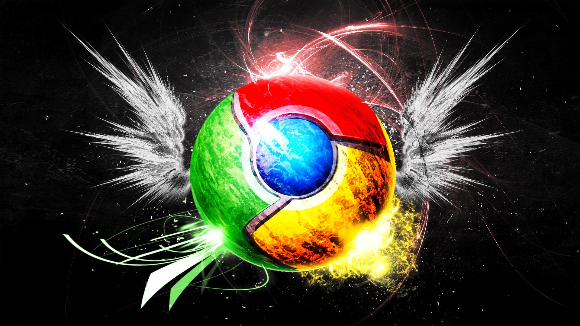 壁紙 Google Chromeのロゴ 創造 翼 カラフル 1920x1080 Full Hd 2k