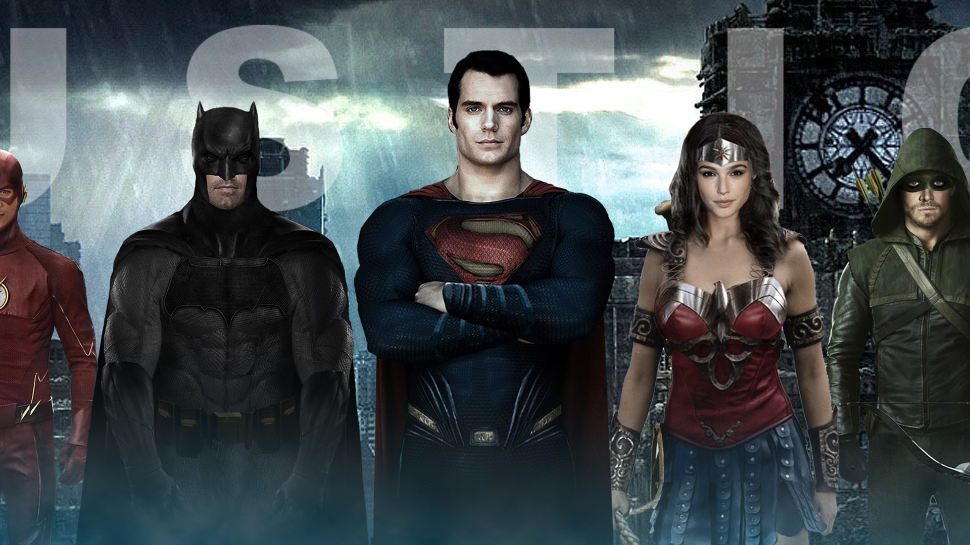 Wallpaper Justice League 2017 HD 3840x1200 Multi Monitor Panorama