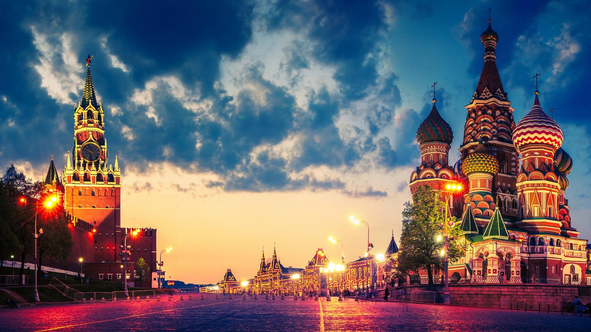 Обои russia, ночь, kremlin, россия, кремль, moscow. Города foto 9