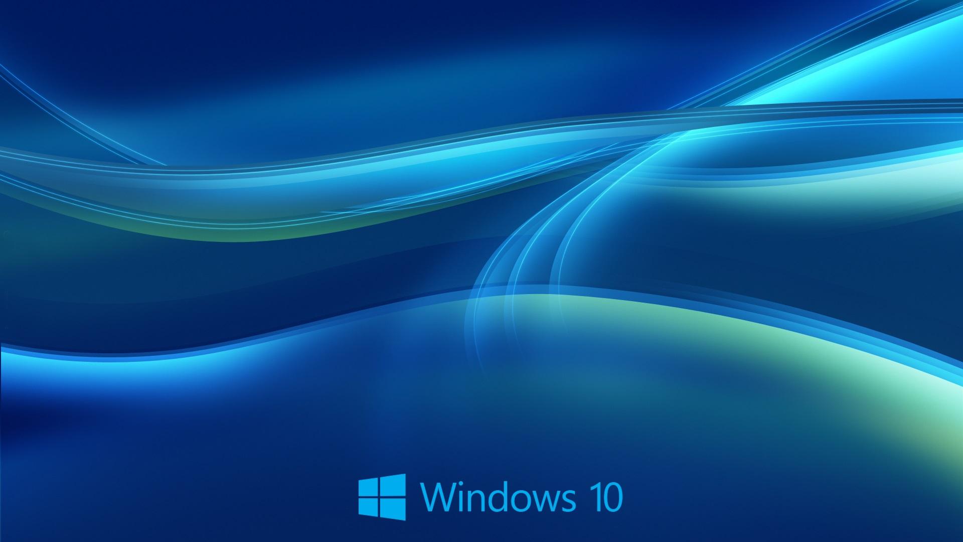 Windows-10-System, Abstrakten Blauen Hintergrund 1920x1200