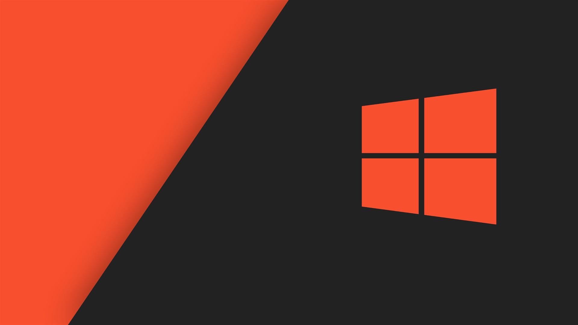 壁紙 Windowsの10システムのロゴ、オレンジスタイル 2560x1920 HD 無料のデスクトップの背景, 画像