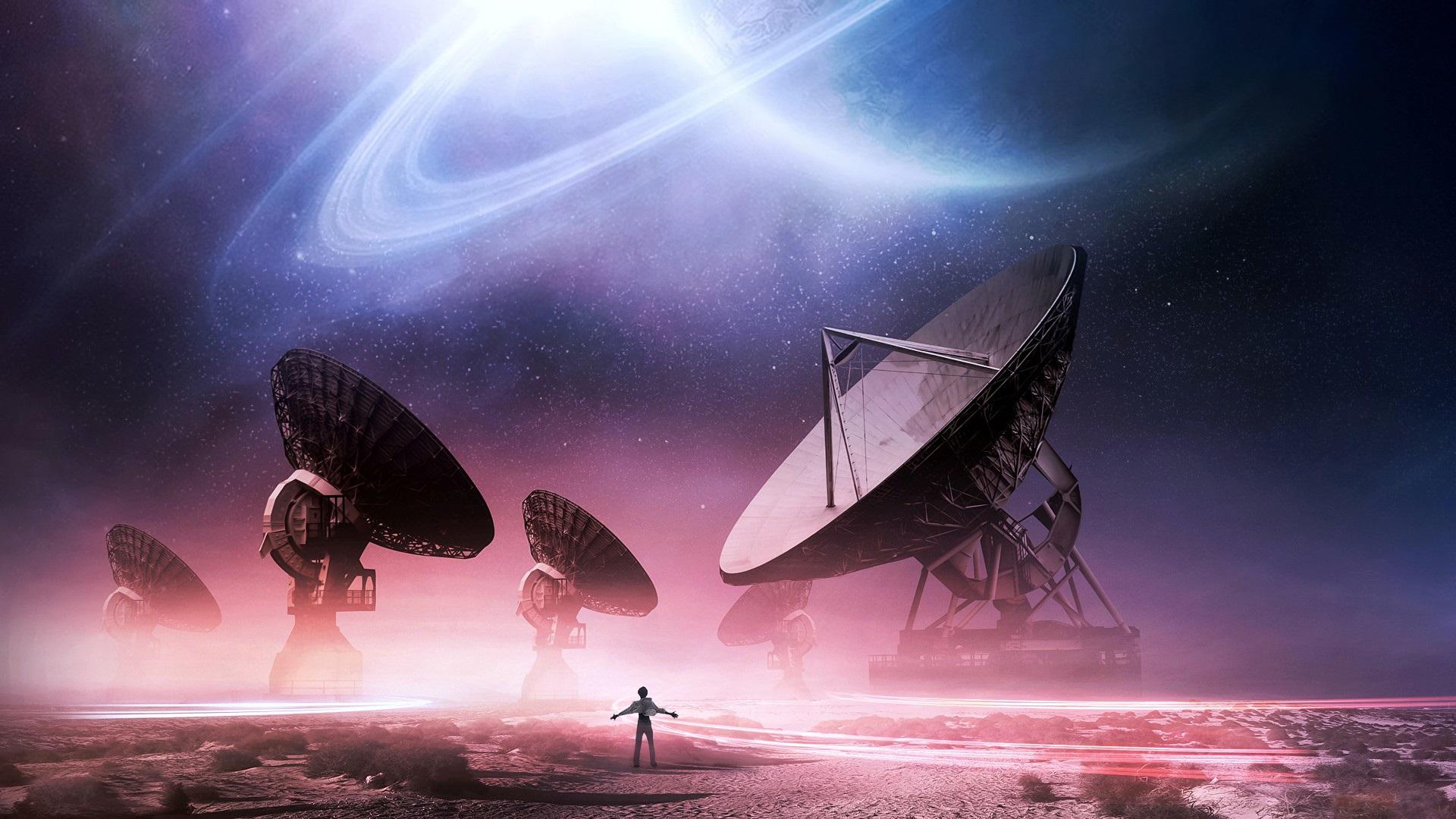Fondos De Pantalla Antenas Espacio Estrellas Planetas