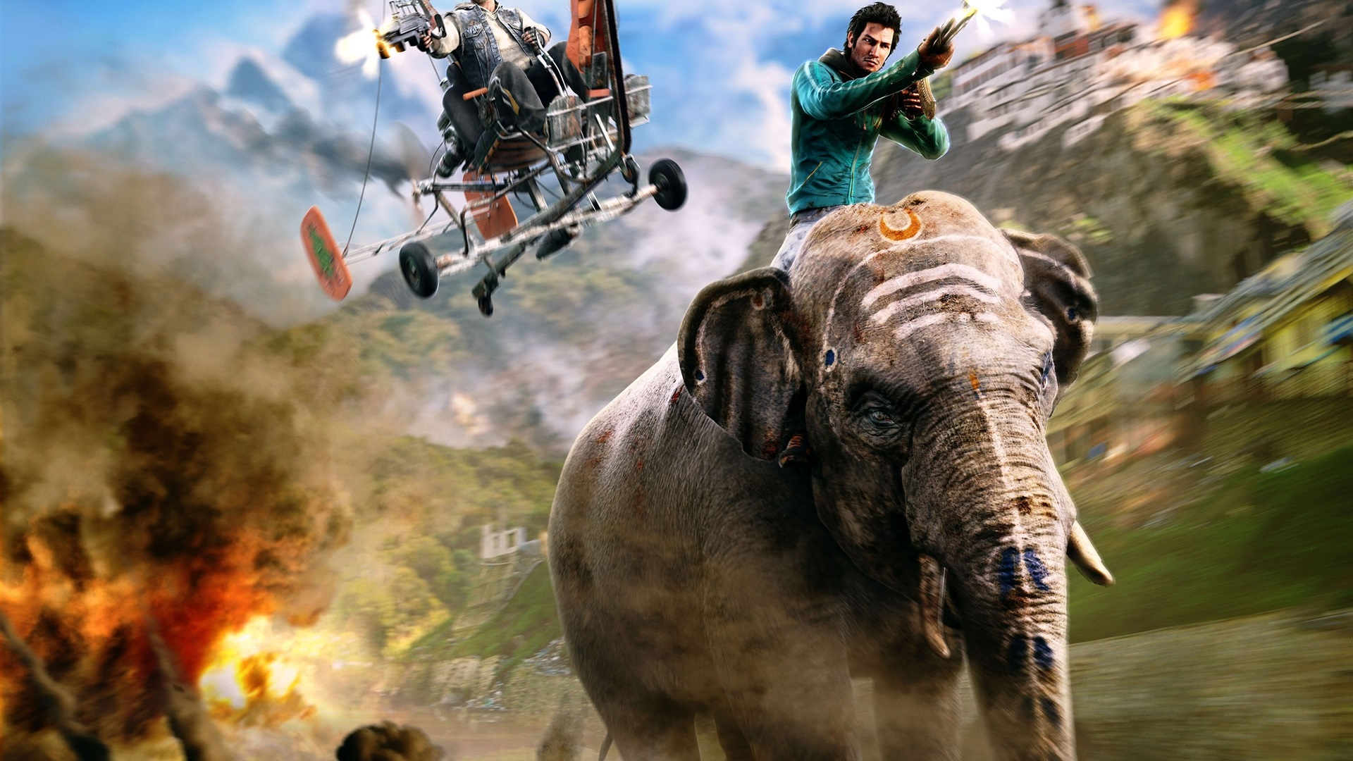 Wallpaper Far Cry 4 Ps4 Games Elephant 2880x1800 Hd Picture Image