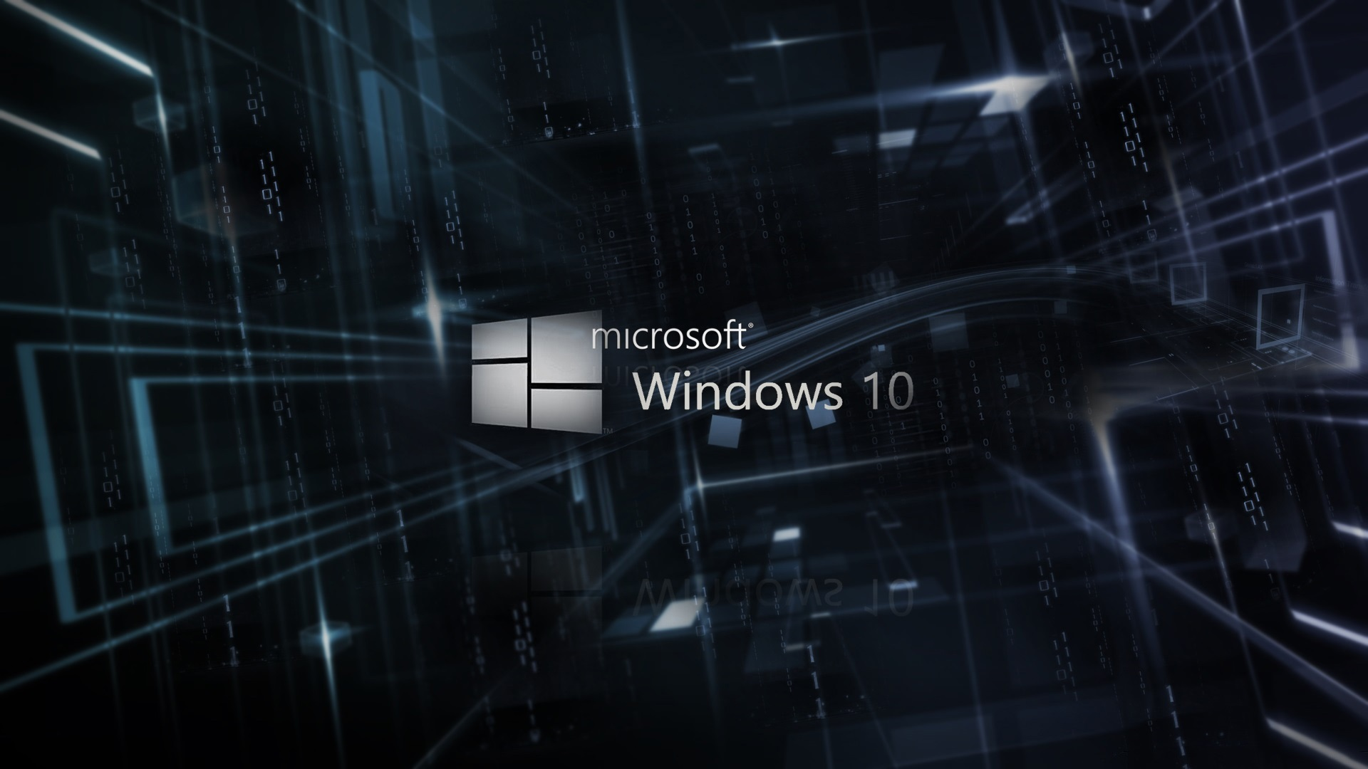 Wallpaper Microsoft Windows 10 Logo 3d Background 1920x1080 Full