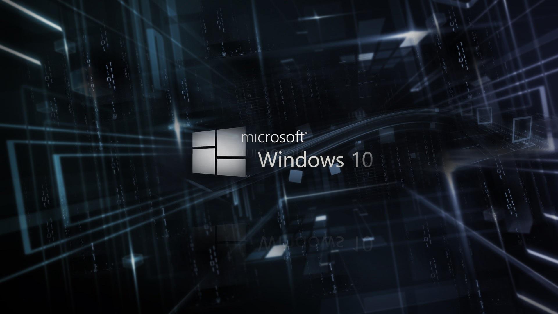 Papéis De Parede Microsoft Windows 10 Logotipo, Fundo 3D