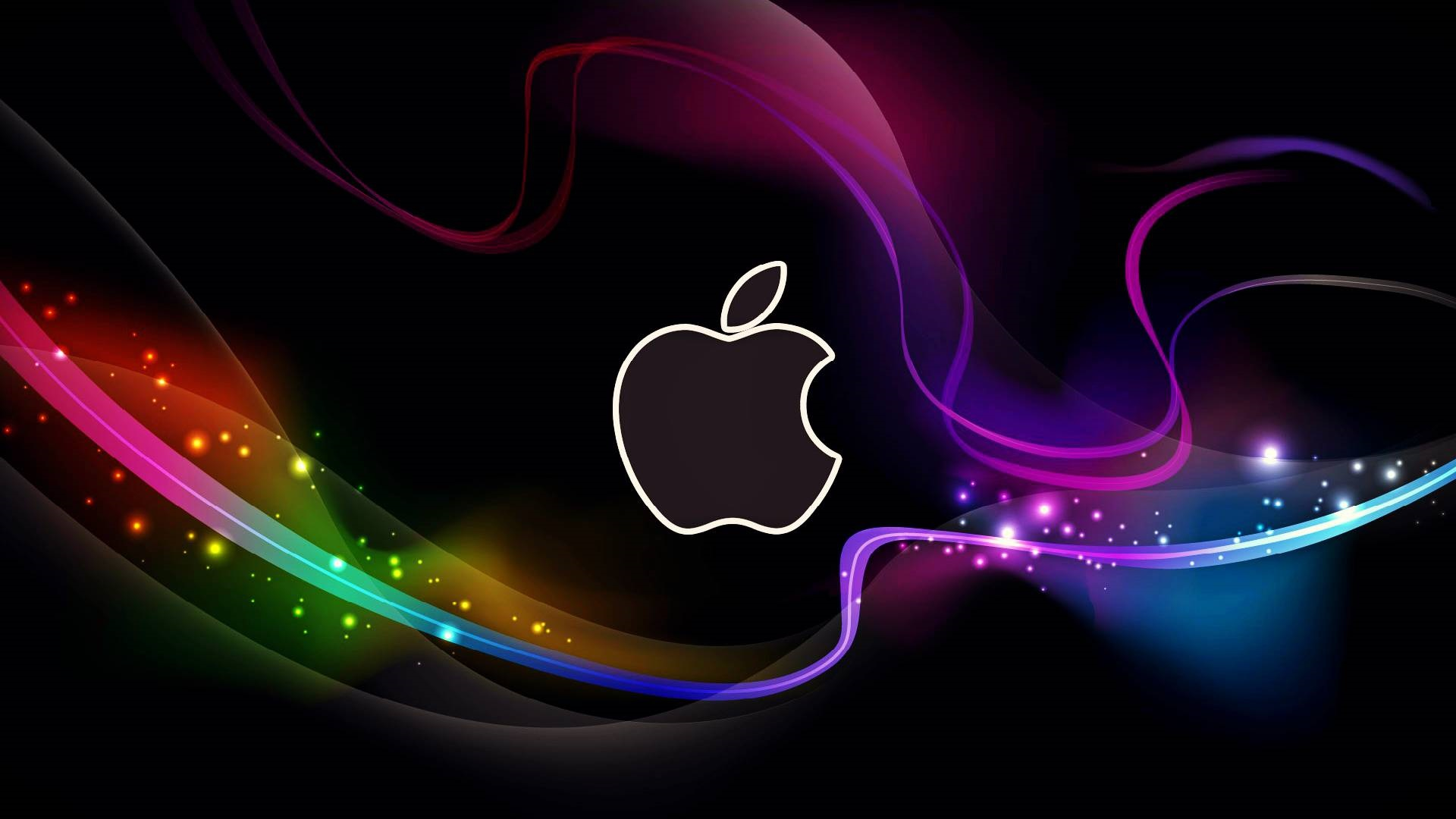 Wallpaper Abstract Apple Logo Colorful Lines 19x1080 Full Hd 2k Picture Image