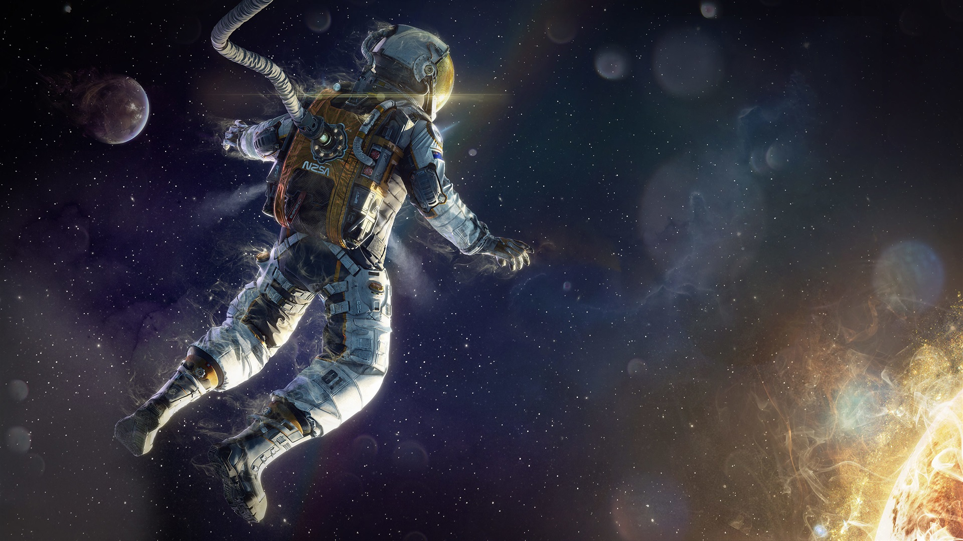 astronaut in space painting - photo #11