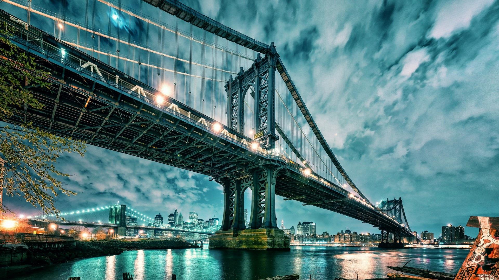 Fonds Décran Manhattan états Unis Pont Gratte Ciel Les
