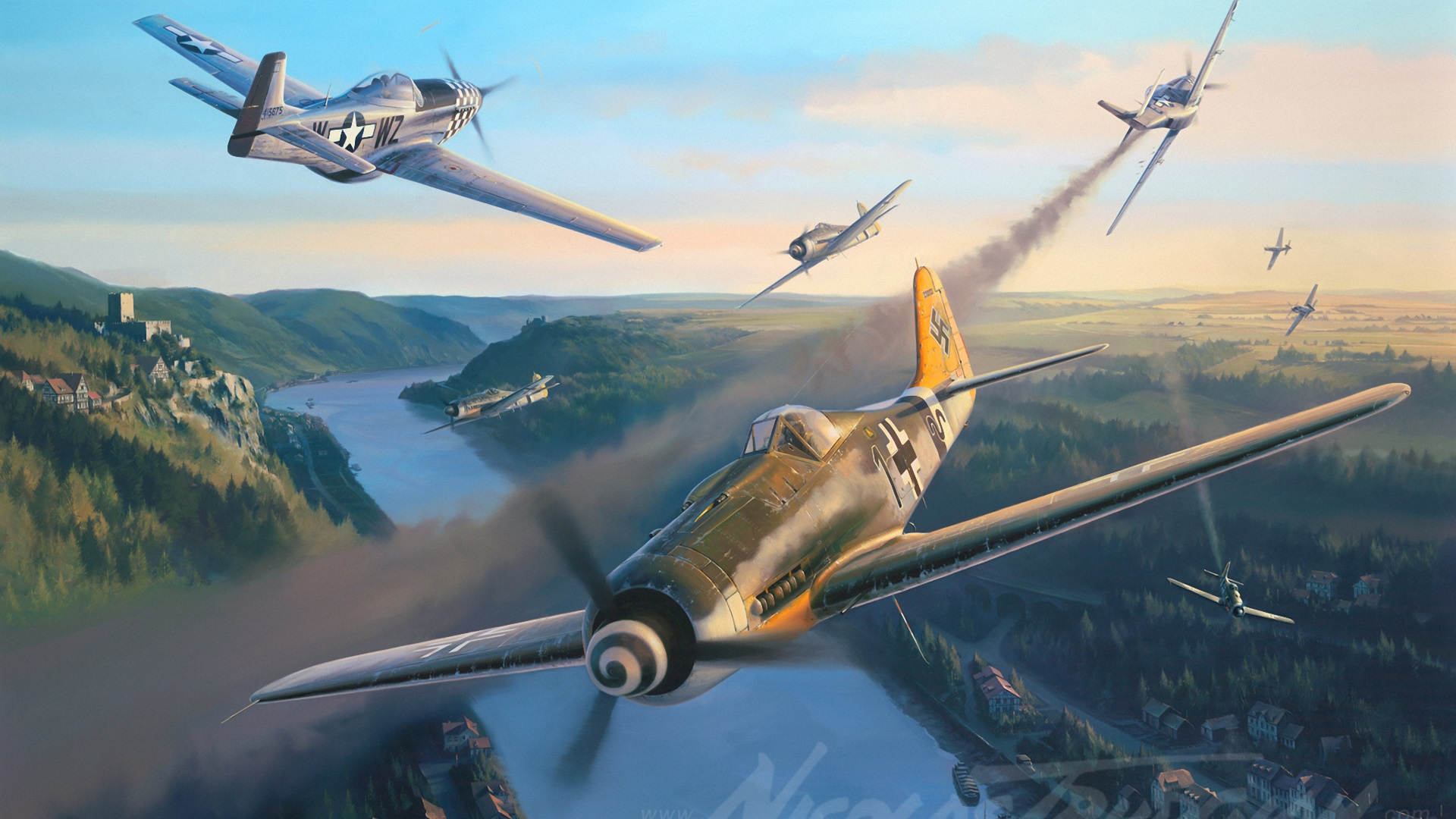 Combat History of the P51 Mustang