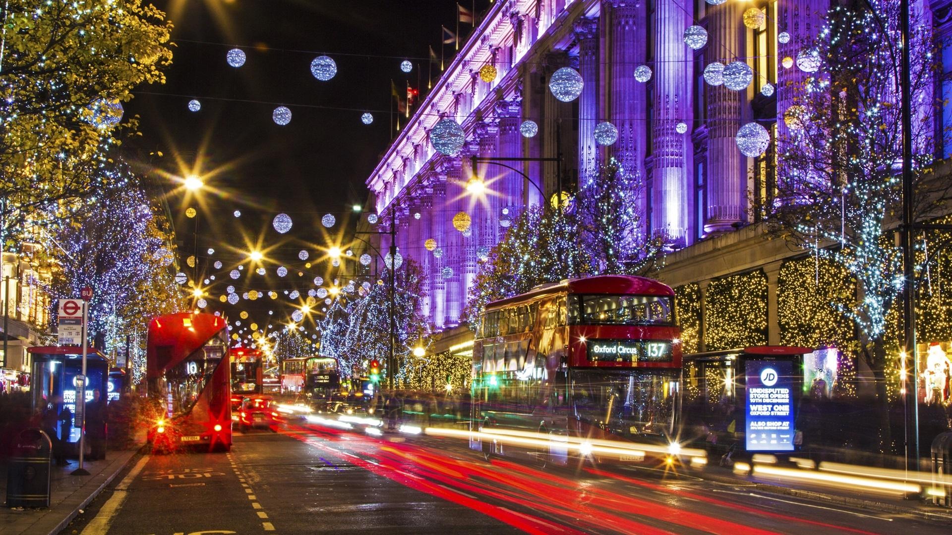 Fondos De Escritorio Parque De Navidad Hd Ciudades Del: Download Wallpaper 1920x1080 London, England, City Street